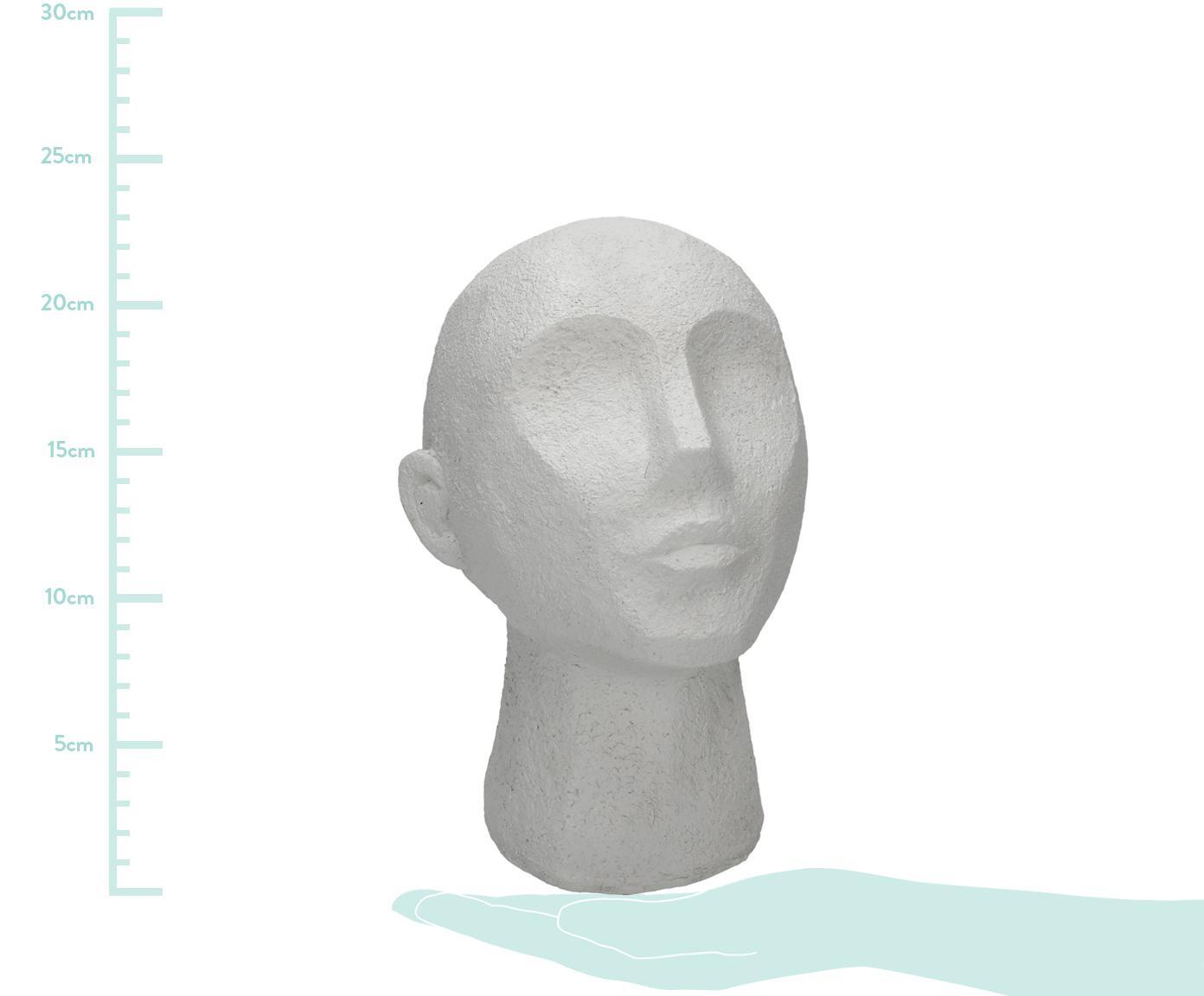 Dekoracja Head, Poliresing, Biały, S 19 x W 23 cm