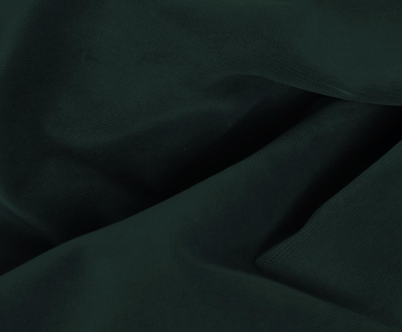 Canapé d'angle velours Moby, Velours vert foncé