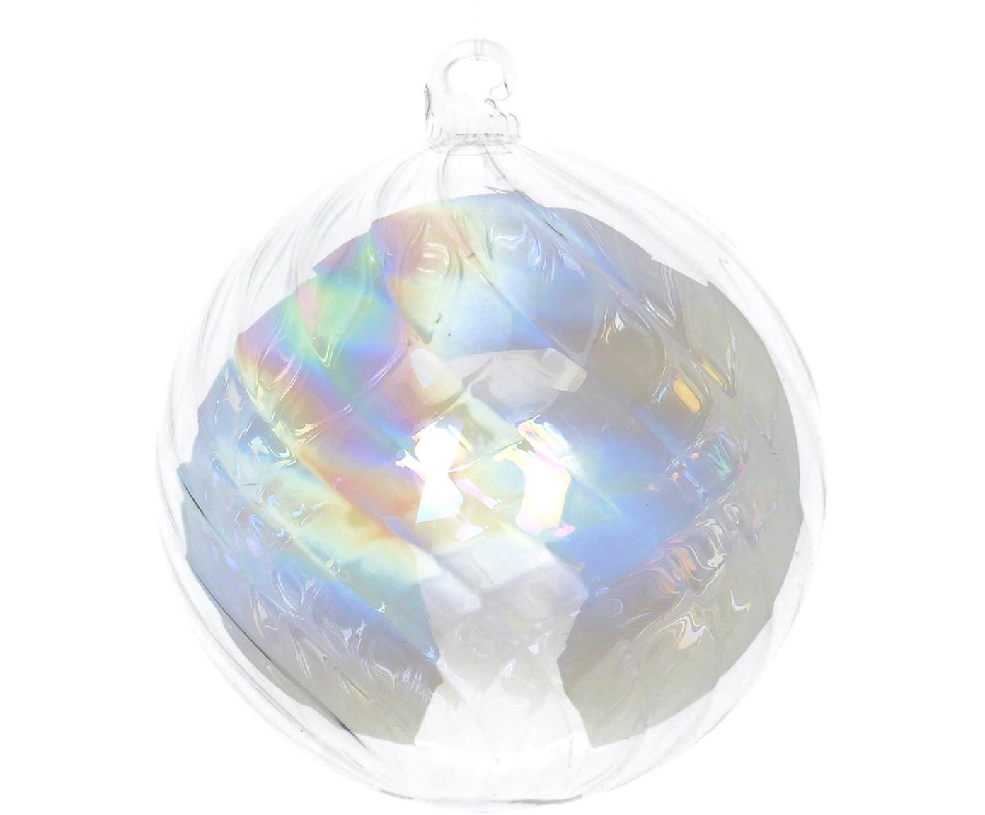 Weihnachtskugeln Iridescent Ø8cm, 2Stück, Transparent, irisierend, Ø 8 cm