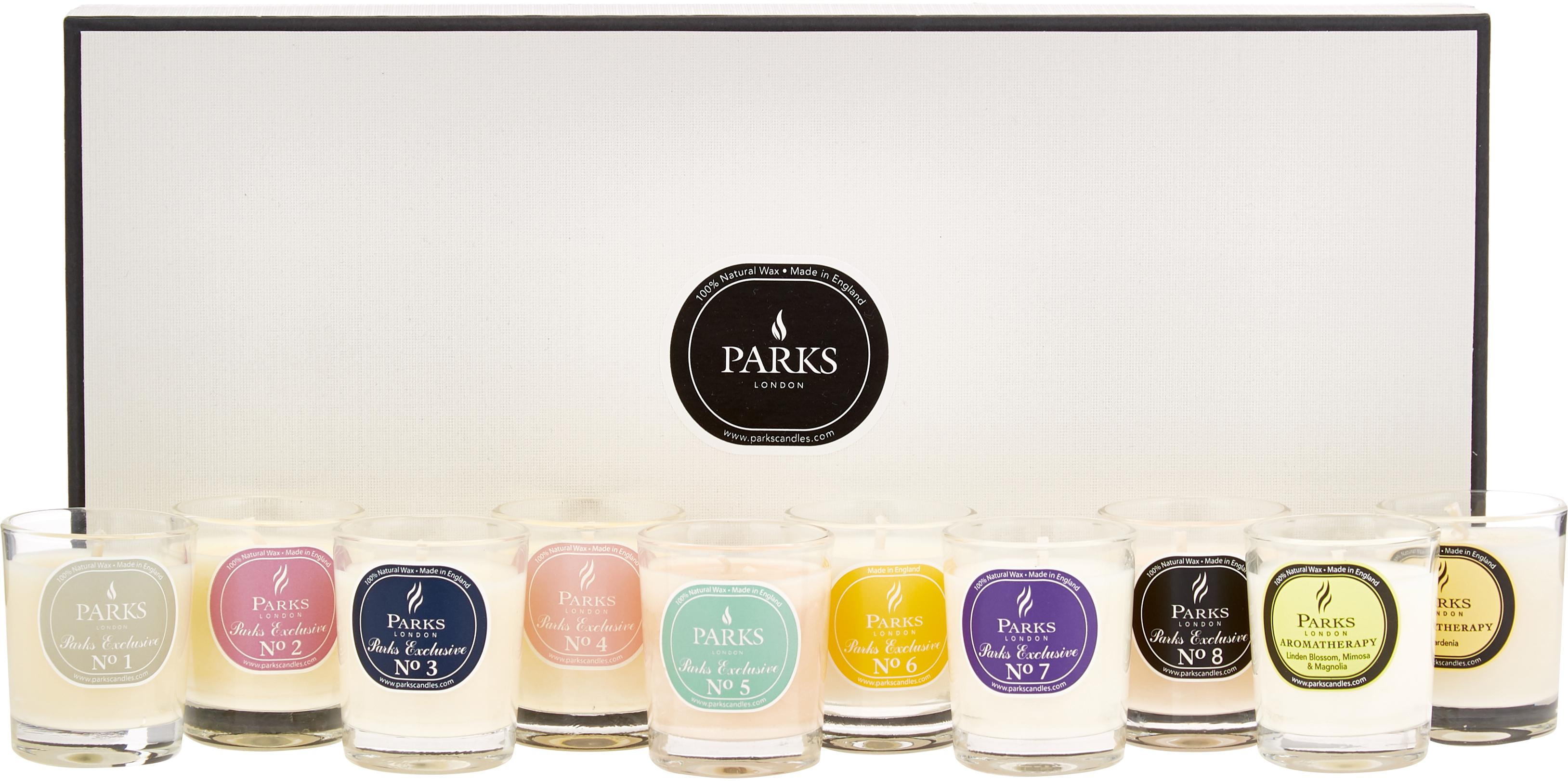 Geurkaarsenset Aromatherapy, 10-delig, Houder: glas, Multicolour, Ø 5 x H 6 cm