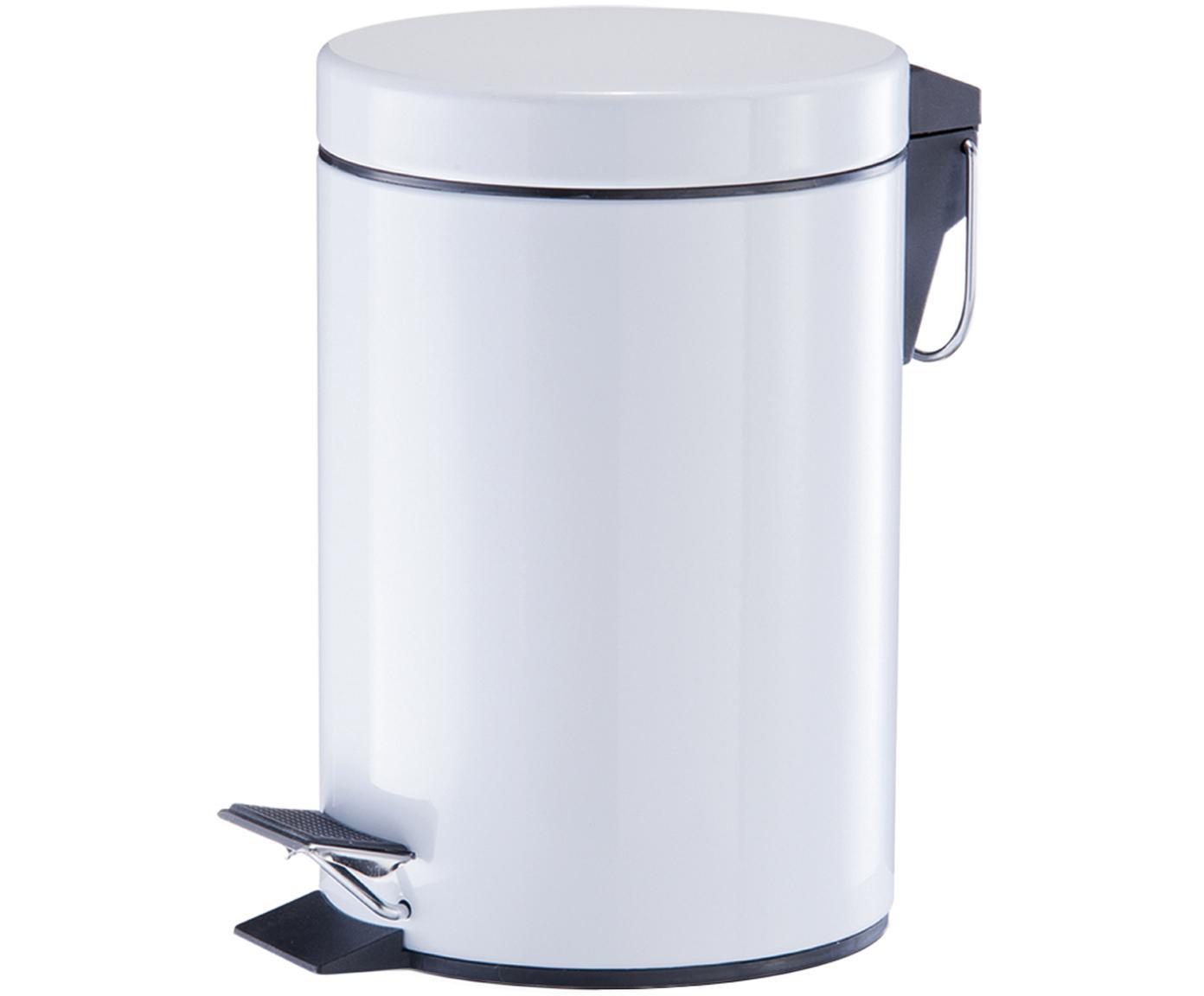 Papelera Ella, Negro, plata, Ø 17 x Al 26 cm