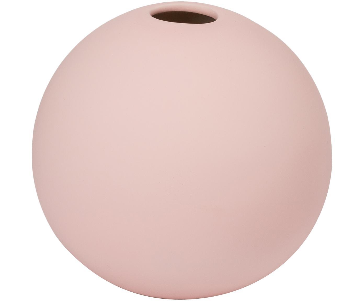 Handgemaakte bollen vaas Ball, Keramiek, Roze, Ø 8 x H 8 cm