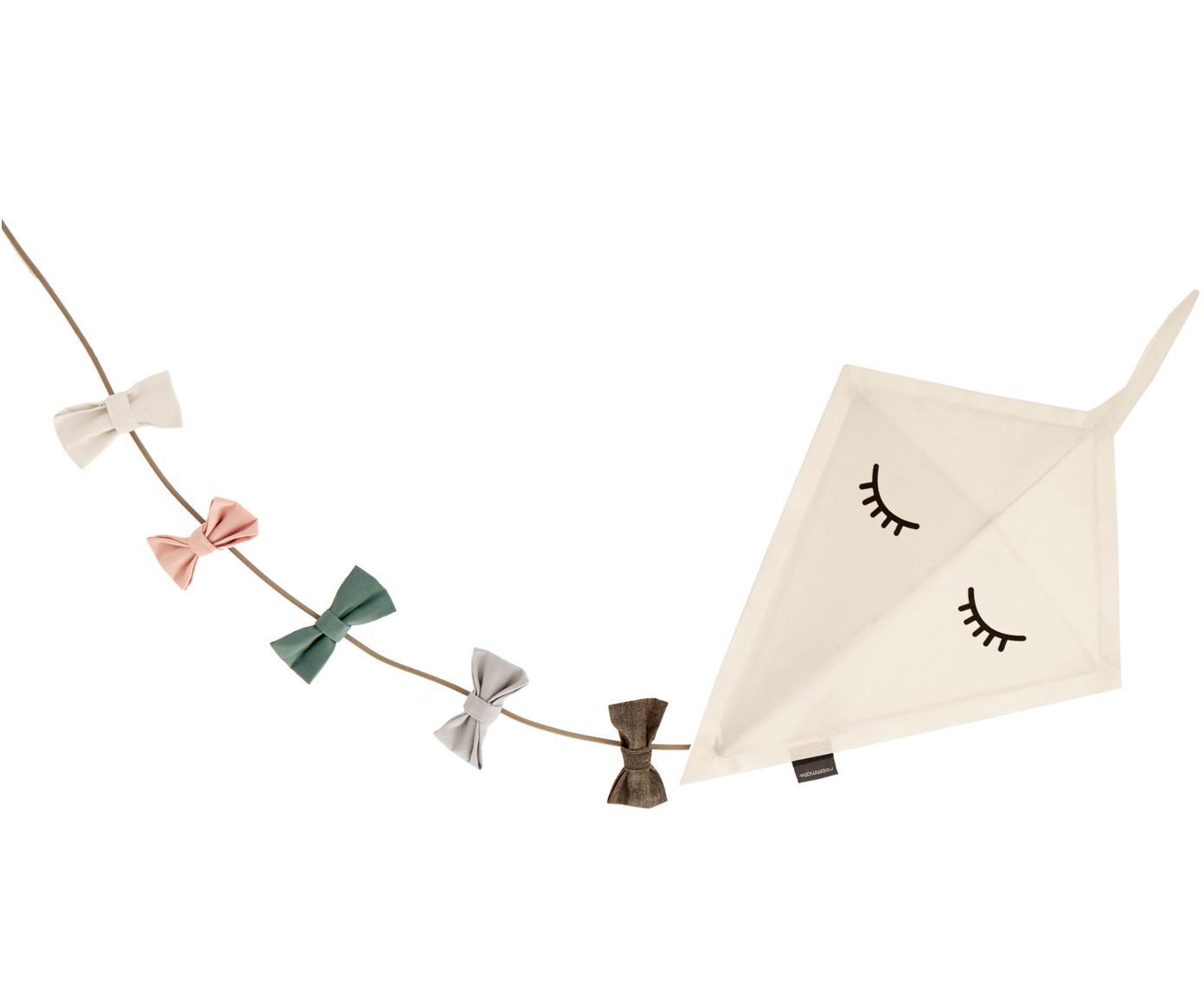 Kinkiet Kite z wtyczką, Tapicerka: filc, Stelaż: metal malowany proszkowo, Biały, wielobarwny, S 40 x W 52 cm