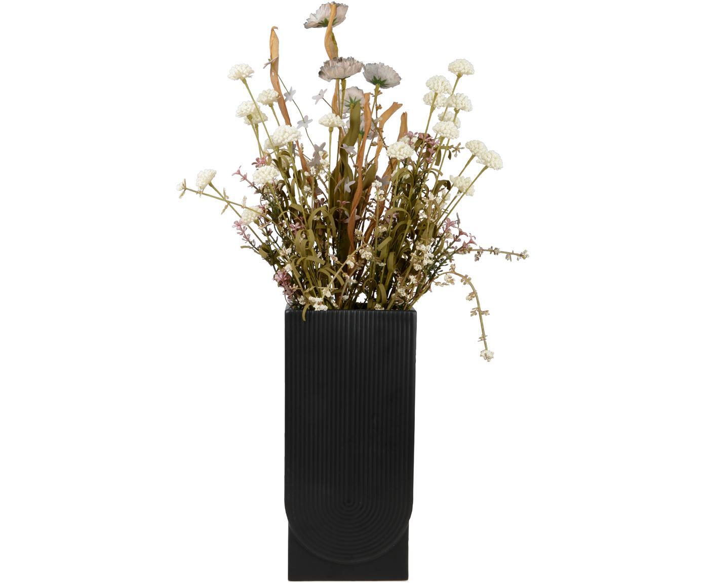Vase Rainbow aus Metall, Metall, beschichtet, Schwarz, 14 x 30 cm