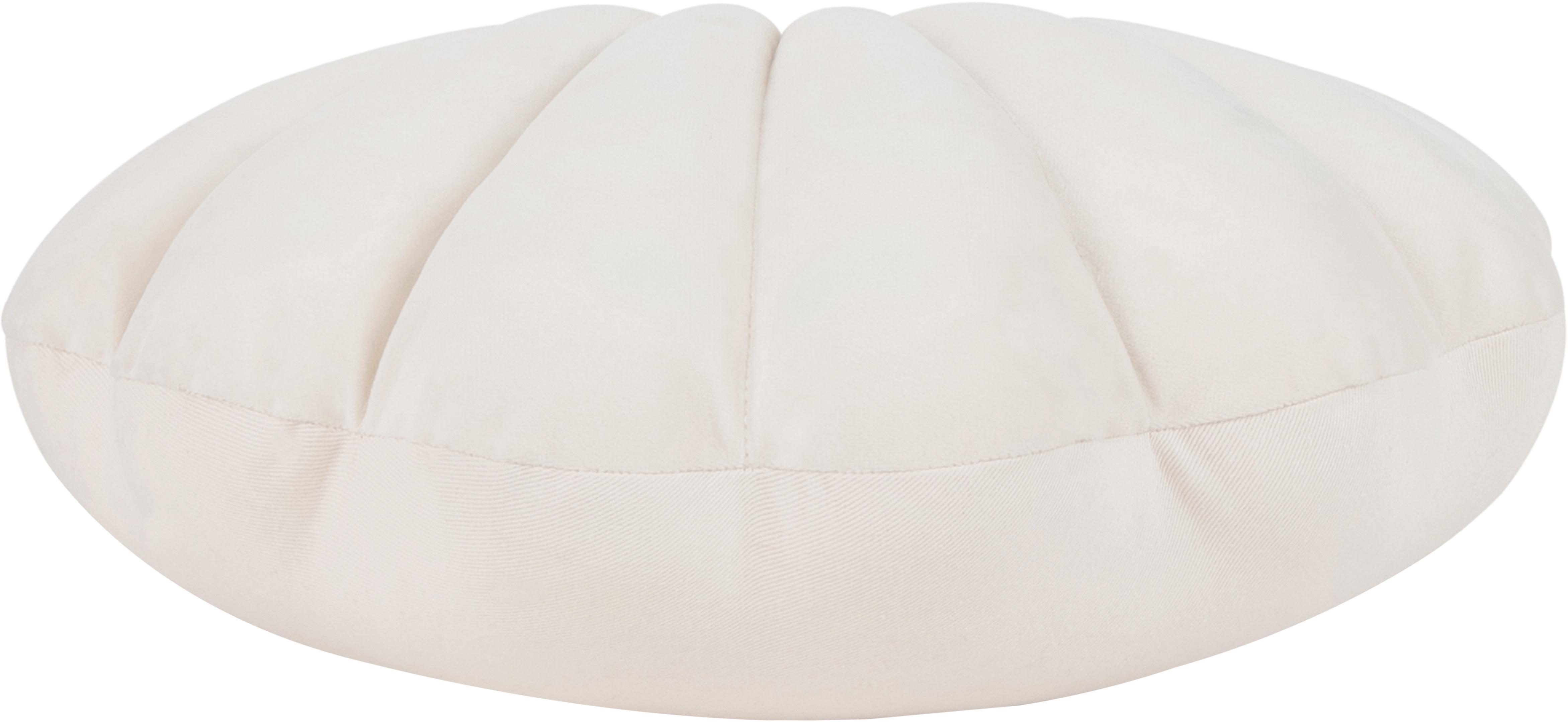 Sametový polštář Shell, Krémově bílá