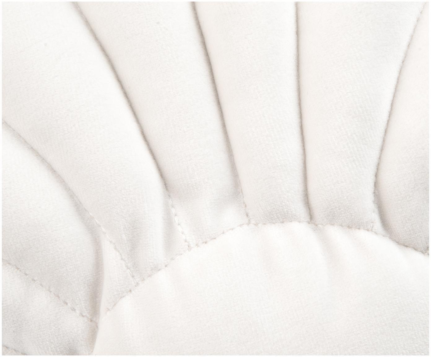 Poduszka z aksamitu Shell, Kremowobiały, S 28 x D 30 cm