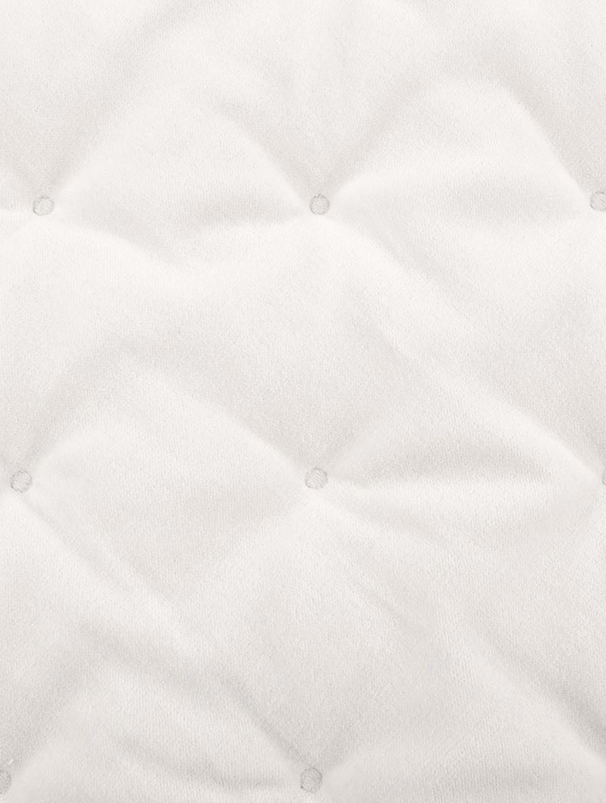 Wattierte Samt-Tagesdecke Cheryl mit dekorativer Steppung, 100% Baumwolle, Champagner, 240 x 250 cm