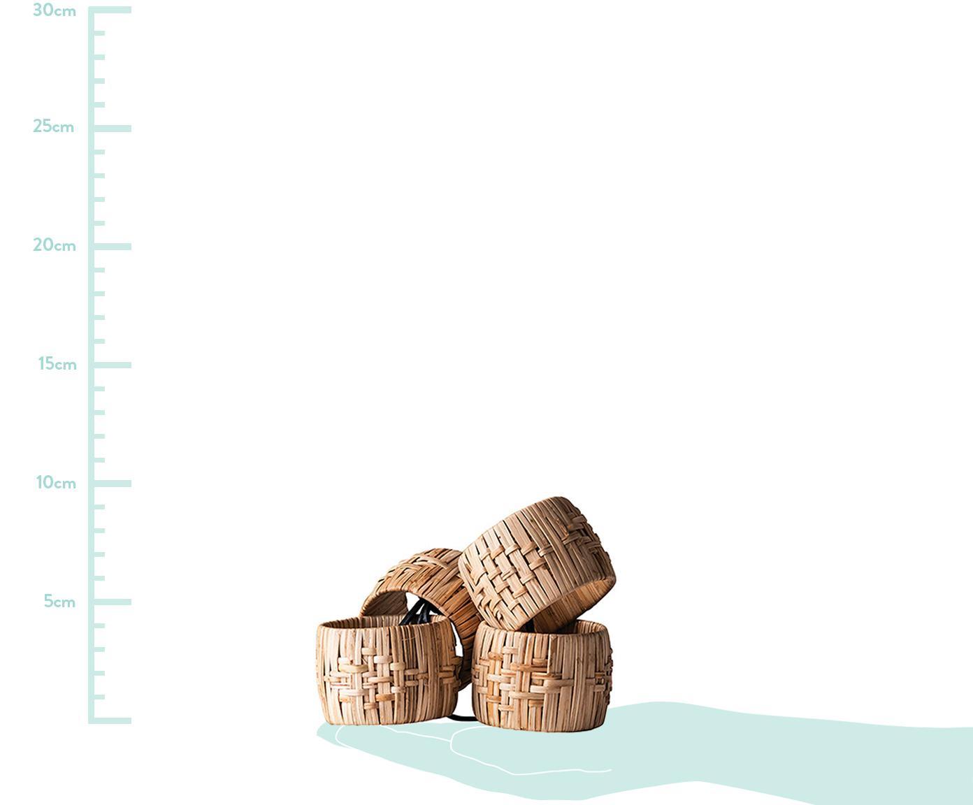 Servetringen Terrain, 4 stuks, Riet, Bruin, Ø 5 x H 4 cm