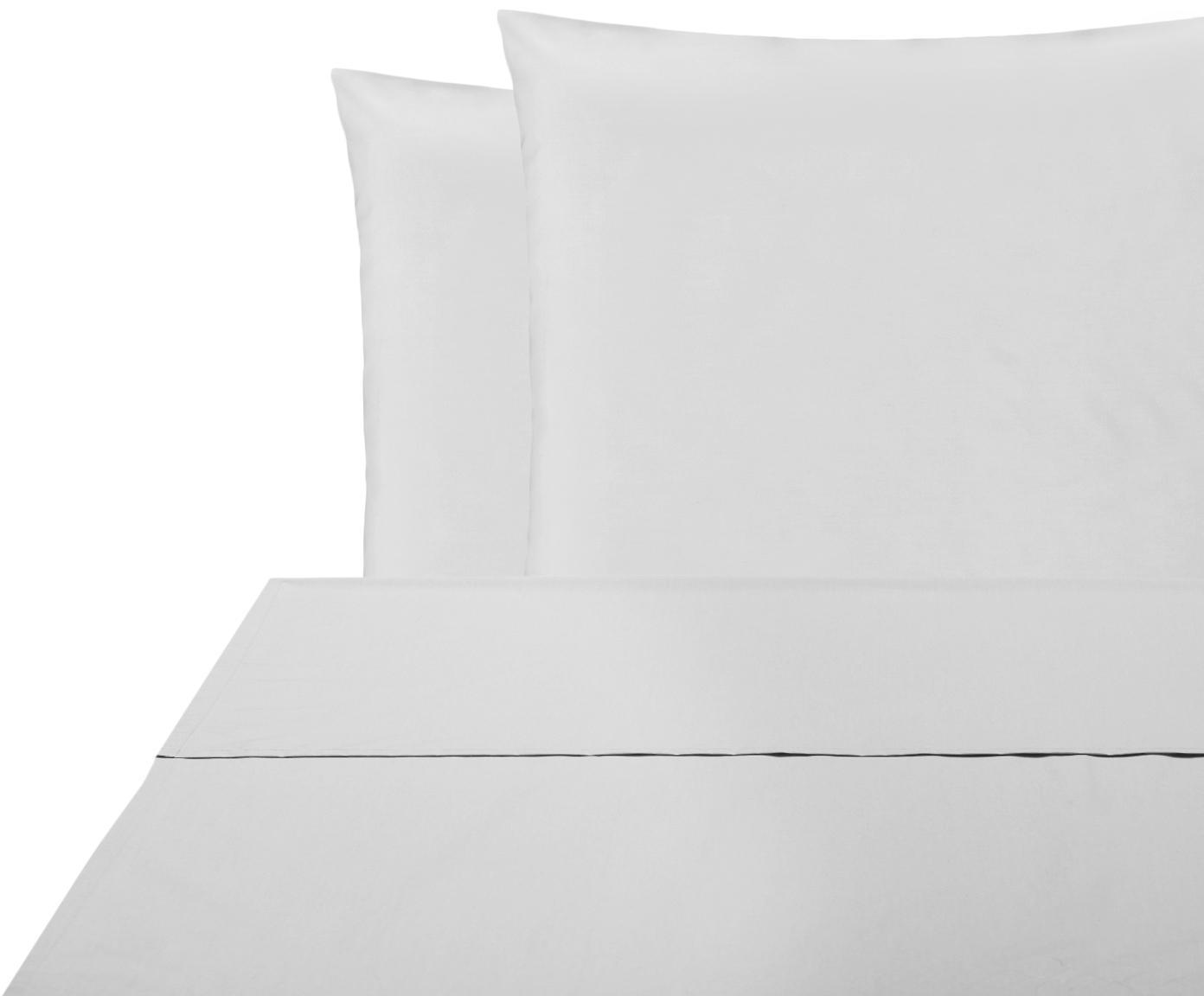 Set lenzuola in percalle Elsie 2 pz, Tessuto: percalle Densità del filo, Grigio chiaro, 240 x 300 cm