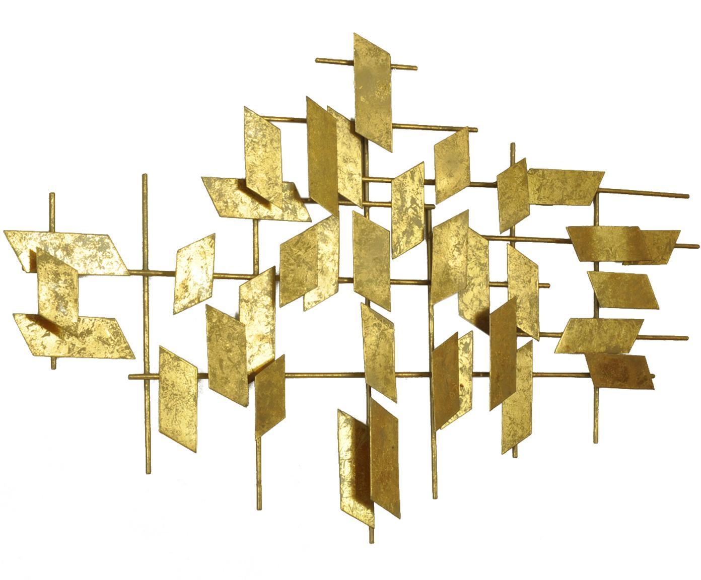 XL-wandobject Tara, Metaal, Goudkleurig, 95 x 60 cm