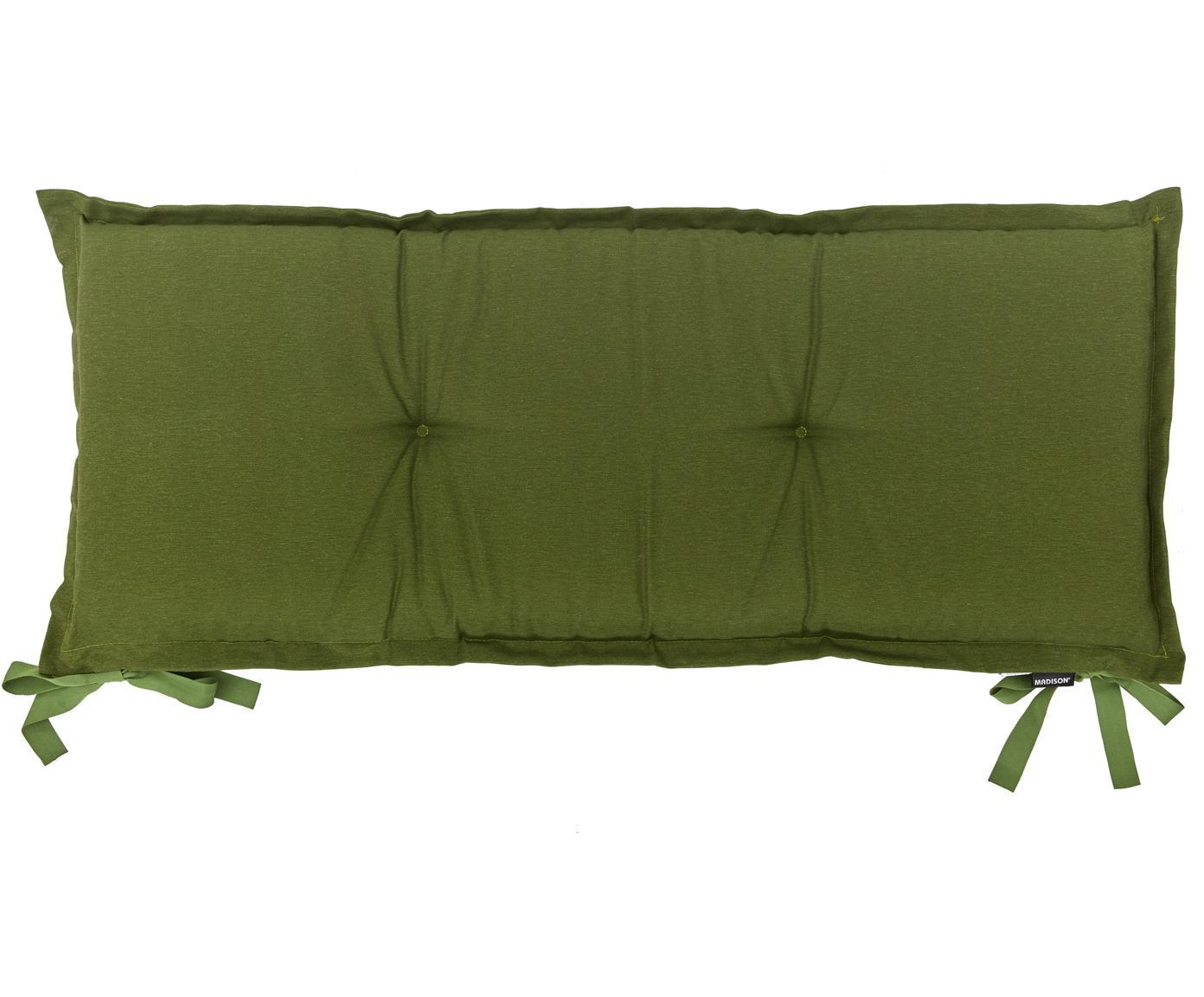 Cuscino sedia lungo Panama, 50% cotone, 45% poliestere, 5% altre fibre, Verde, Larg. 48 x Lung. 120 cm