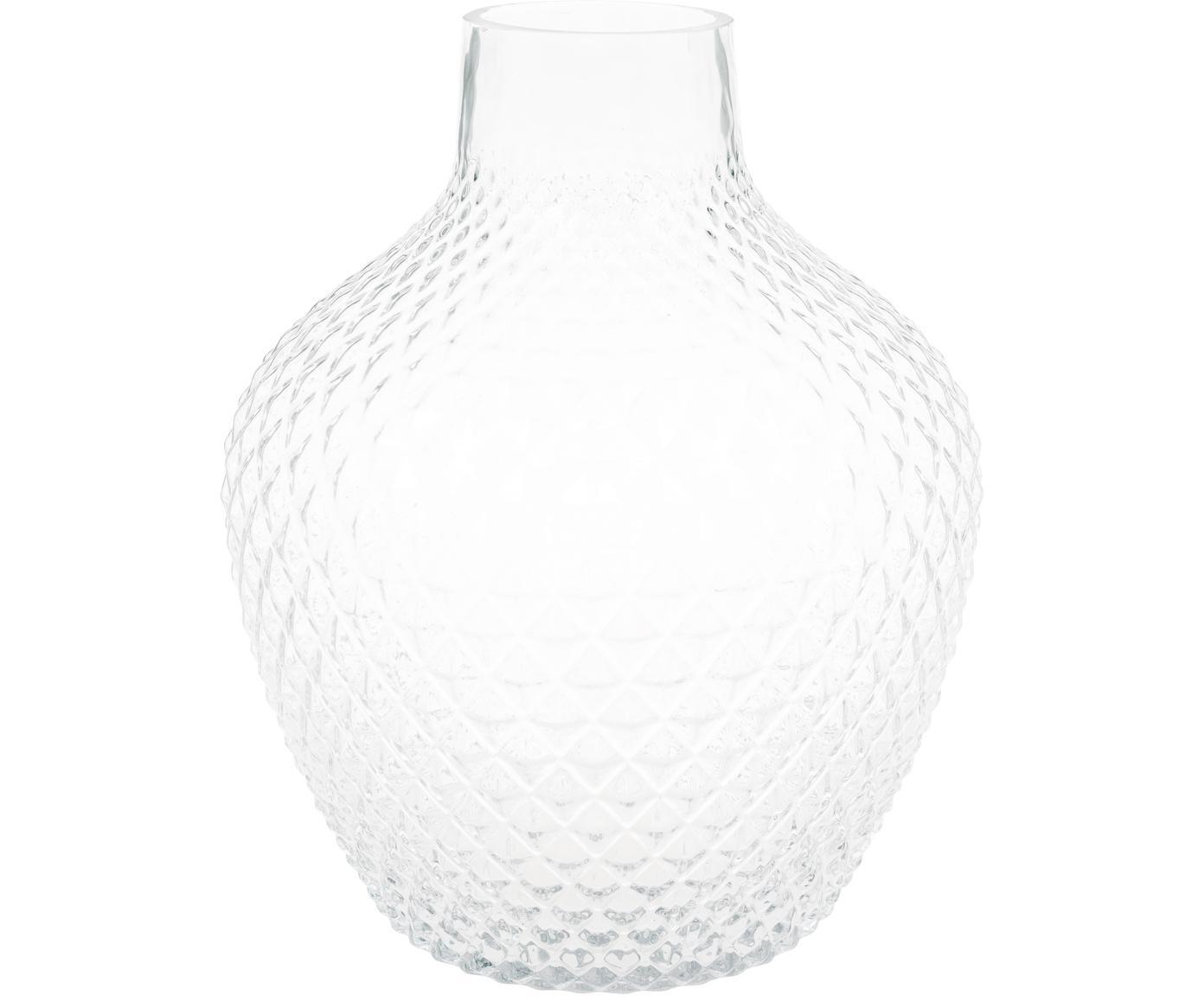 Jarrón de vidrio Ilse, Vidrio, Transparente, Ø 22 x Al 26 cm
