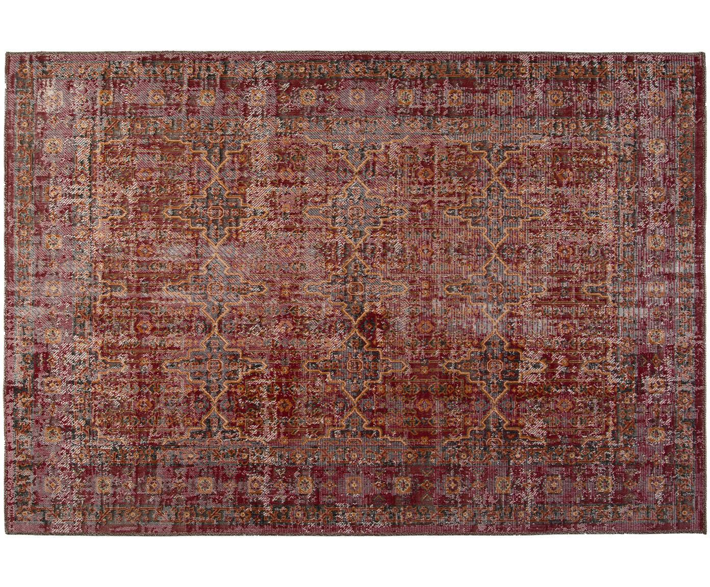 Dywan wewnętrzny/zewnętrzny Tilas Izmir, Ciemny czerwony, musztardowy, khaki, S 160 x D 230 cm (Rozmiar M)