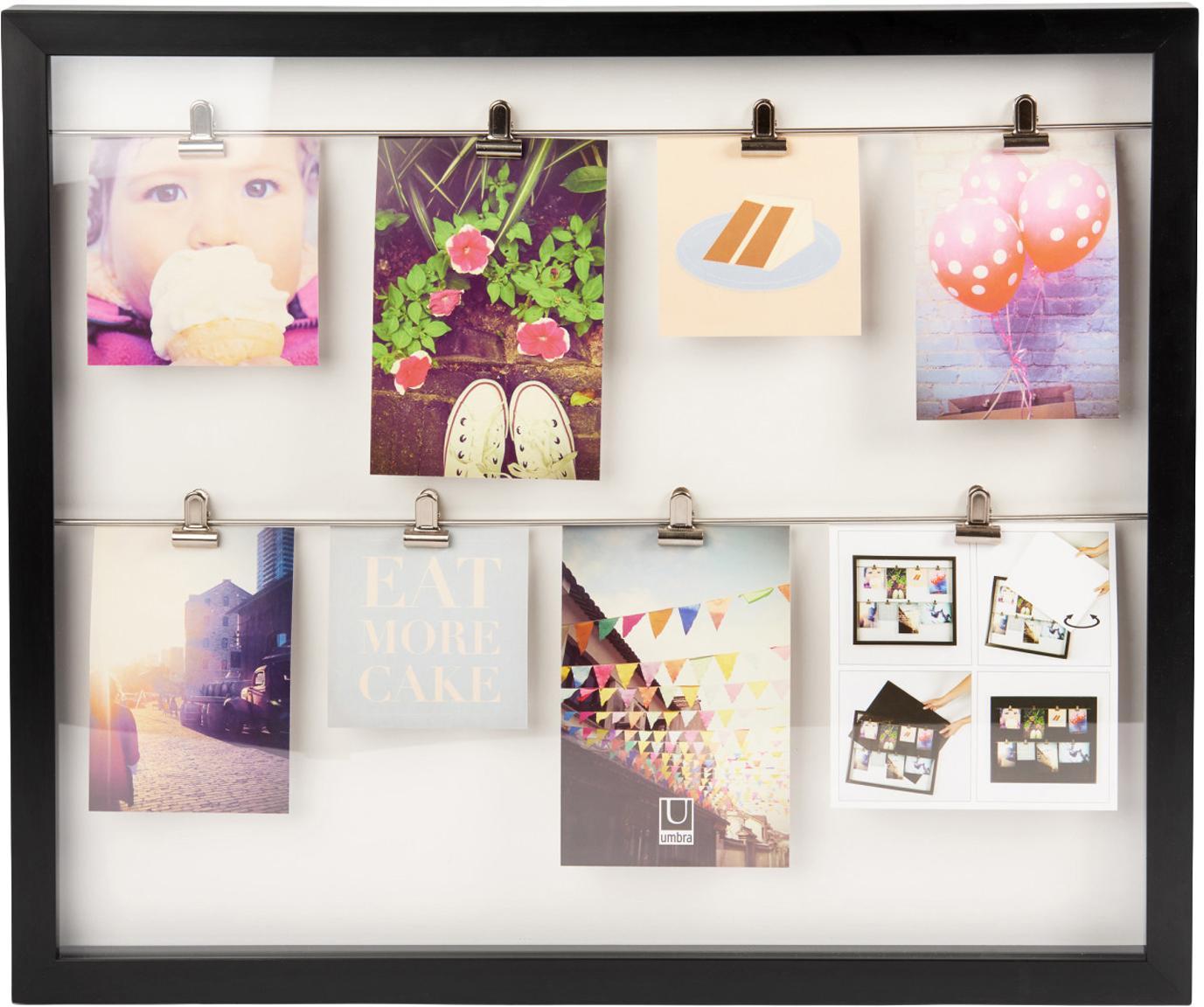 Fotolijstje Clipline, Kunststof, Zwart, Verschillende formaten