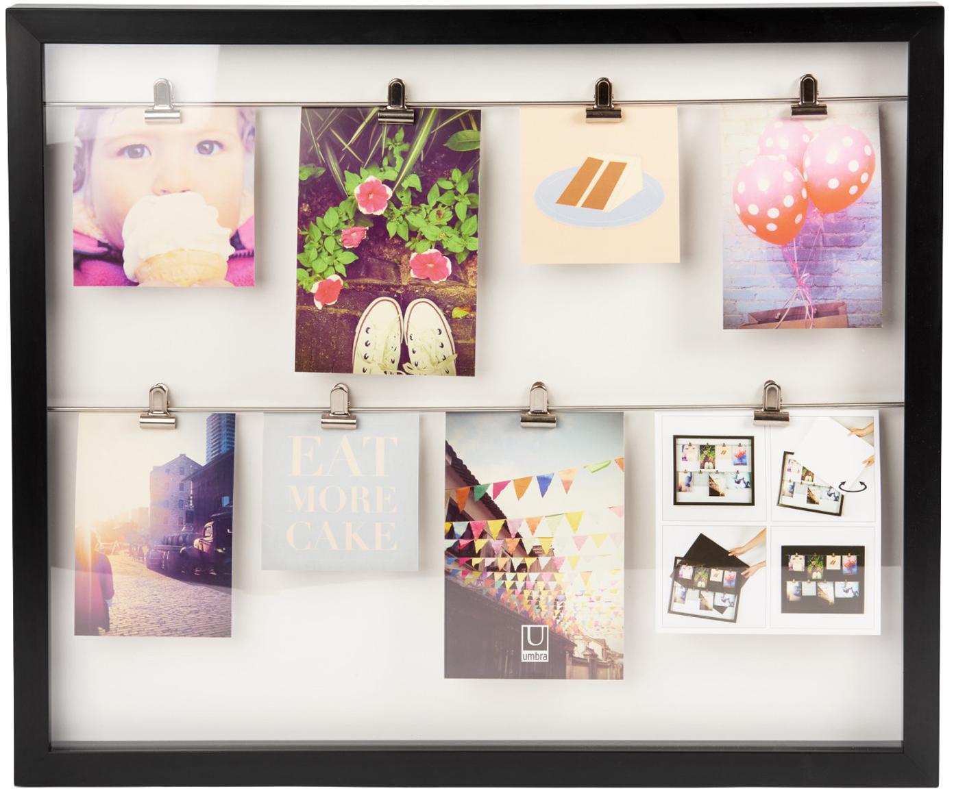 Fotolijstje Clipline, Gecoat hout, Zwart, Verschillende formaten