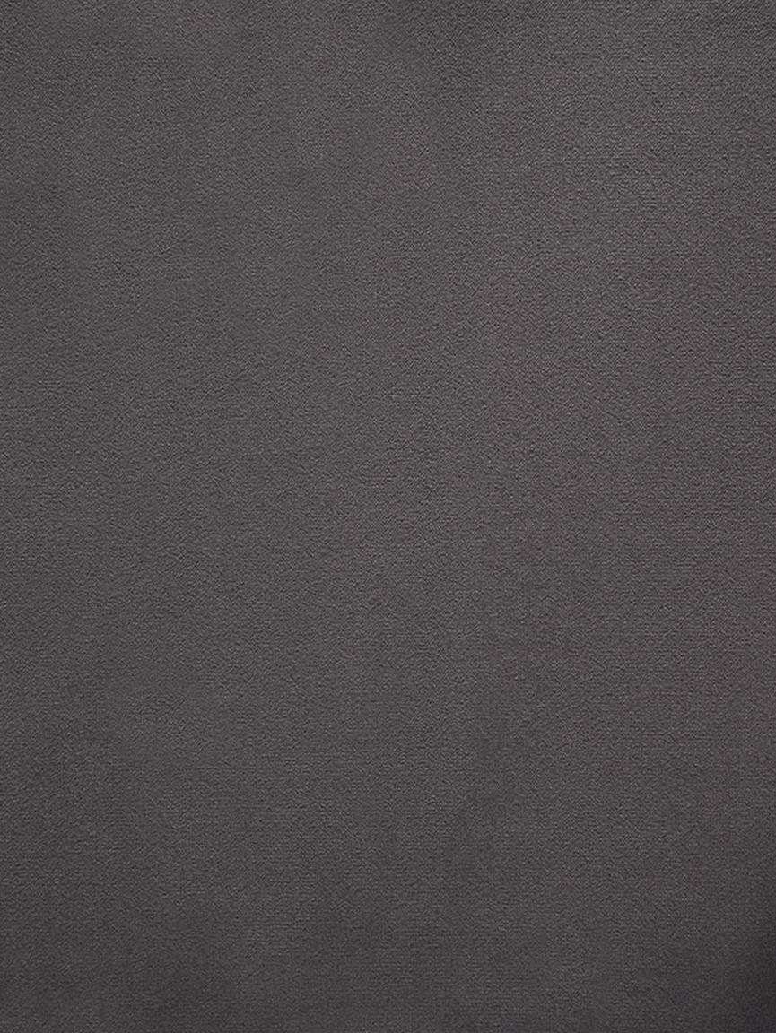 Panca imbottita in velluto Sigfrid, Rivestimento: velluto di poliestere 25., Gambe: metallo verniciato a polv, Grigio scuro, nero, Larg. 160 x Alt. 47 cm