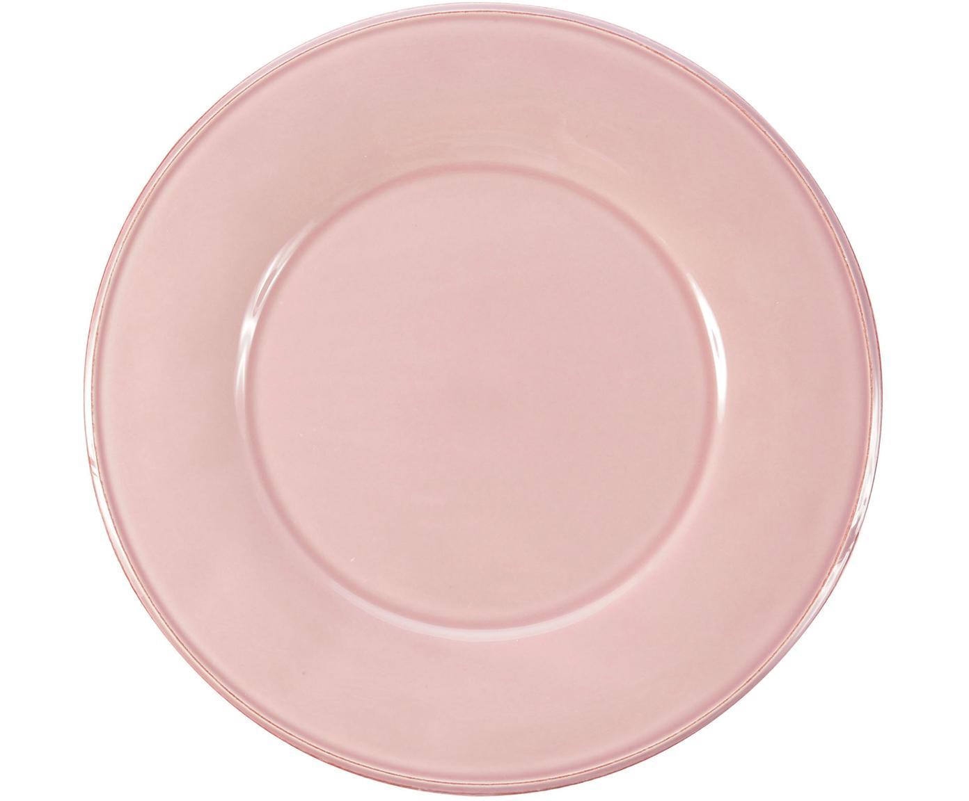 Piatto piano in rosa Constance 2 pz, Ceramica, Rosa, Ø 29 cm