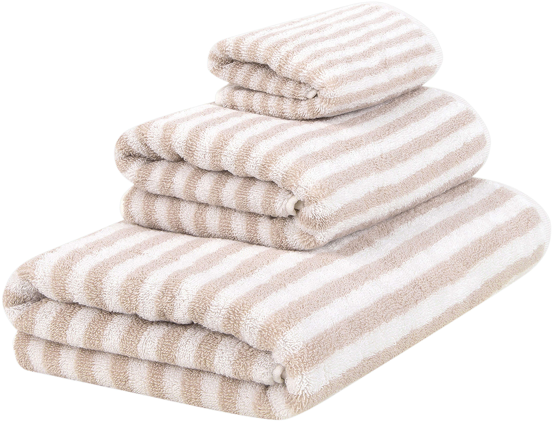 Handdoekenset Viola, 3-delig, 100% katoen, middelzware kwaliteit, 550 g/m², Zandkleurig, crèmewit, Set met verschillende formaten