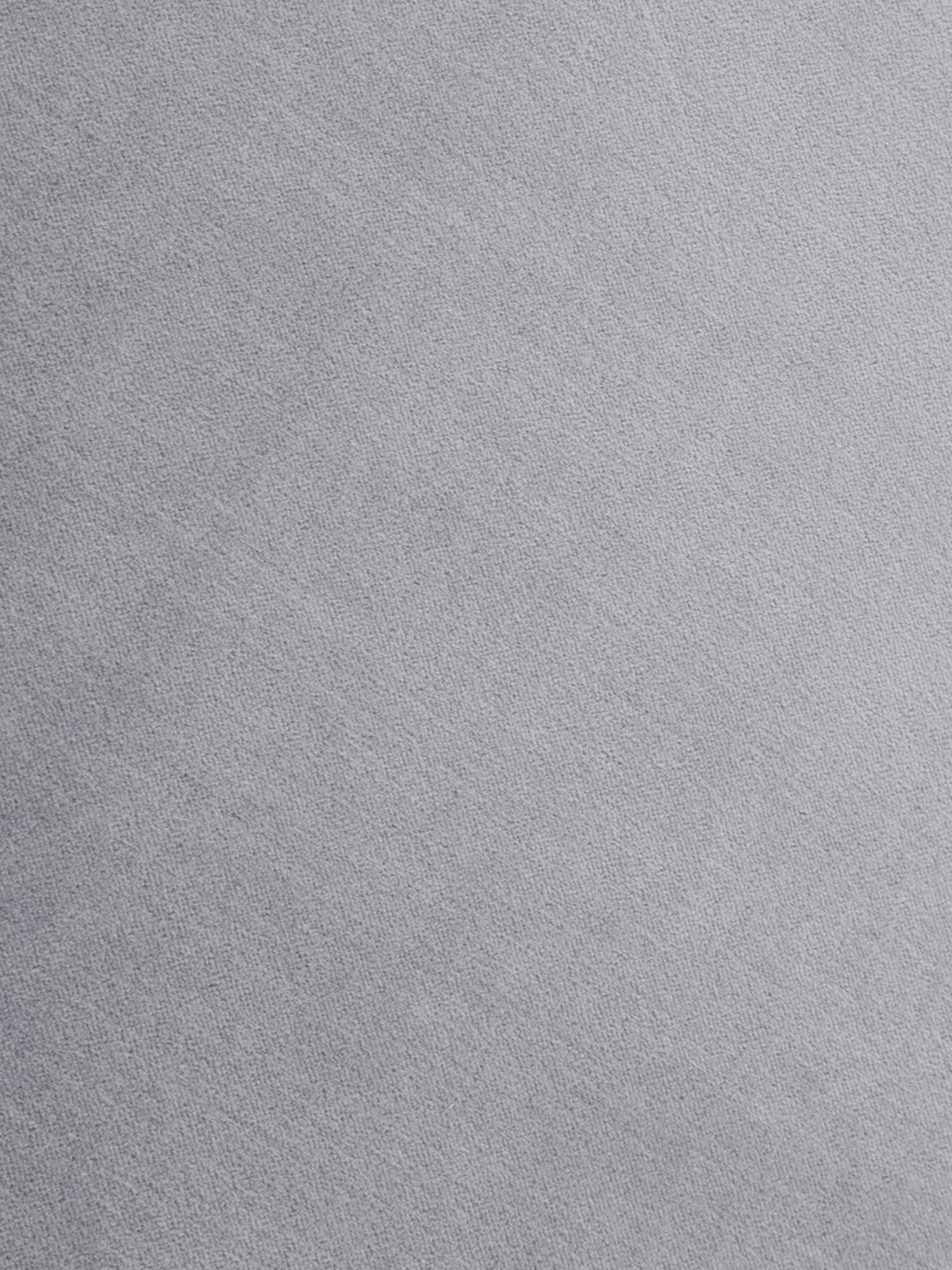 Puf z frędzlami Adriana, Tapicerka: aksamit bawełniany, Jasny szary, Ø 40 x W 40 cm