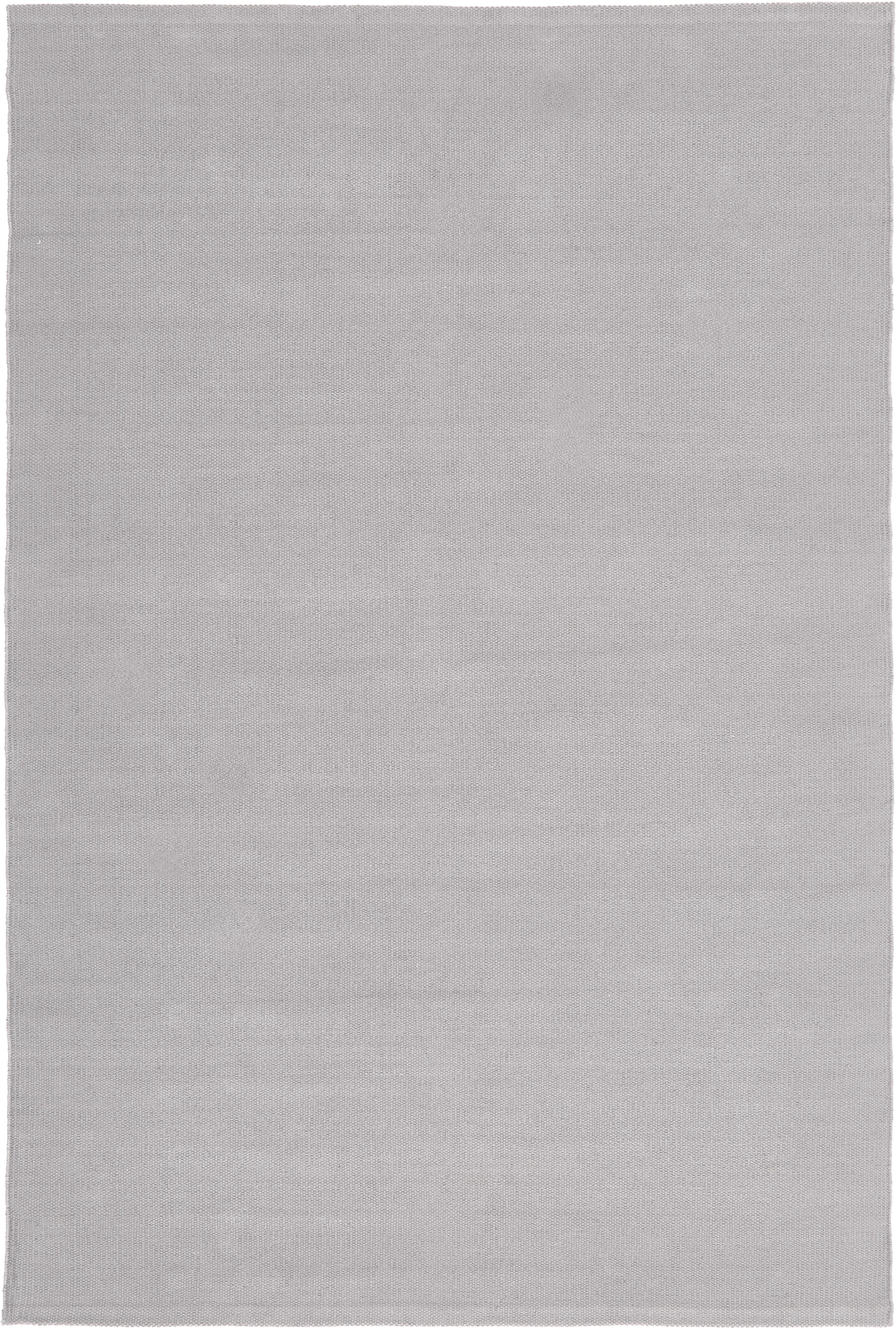 Alfombra artesanal de algodón Agneta, 100%algodón, Gris, An 200 x L 300  cm(Tamaño L)