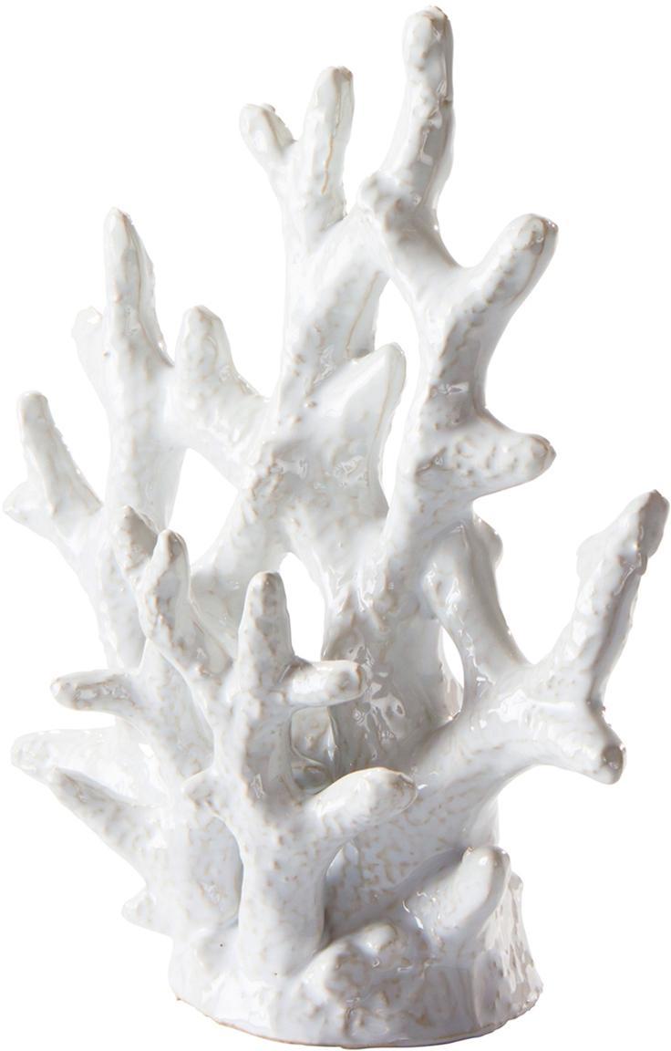 Oggetto decorativo fatto a mano Corallo, Ceramica smaltata, Bianco, Larg. 21 x Alt. 22 cm