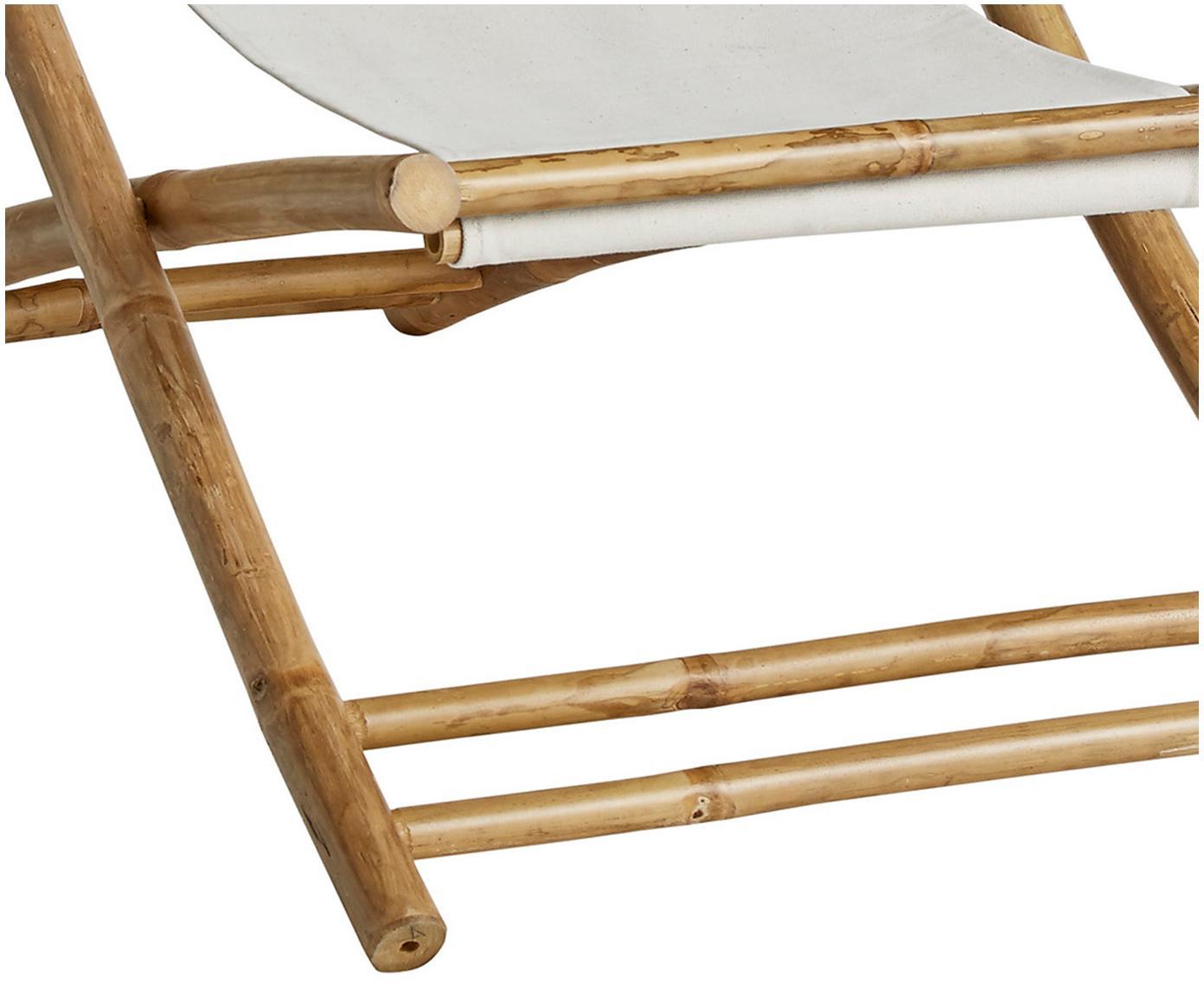 Transat en bambou Mandisa, Structure: bambou<br>Toile: blanc cassé