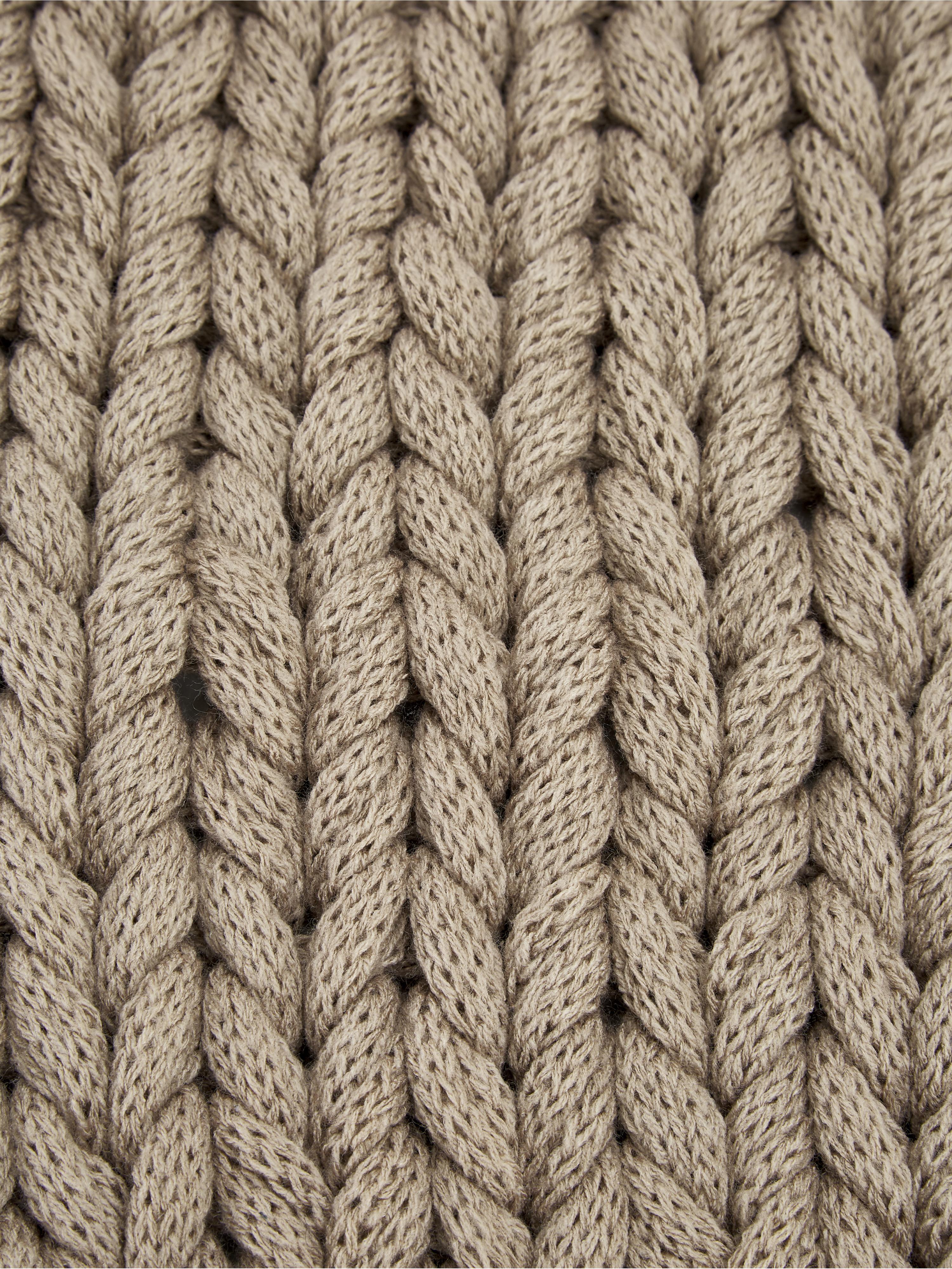 Pletený pléd v béžovej farbe Adyna, Béžová