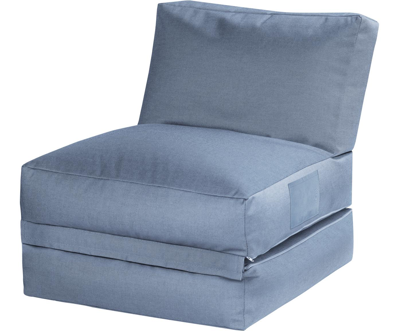 Outdoor loungefauteuil Twist met ligfunctie, Bekleding: polyacryl dralon (garen g, Blauw, B 70  x D 80 cm