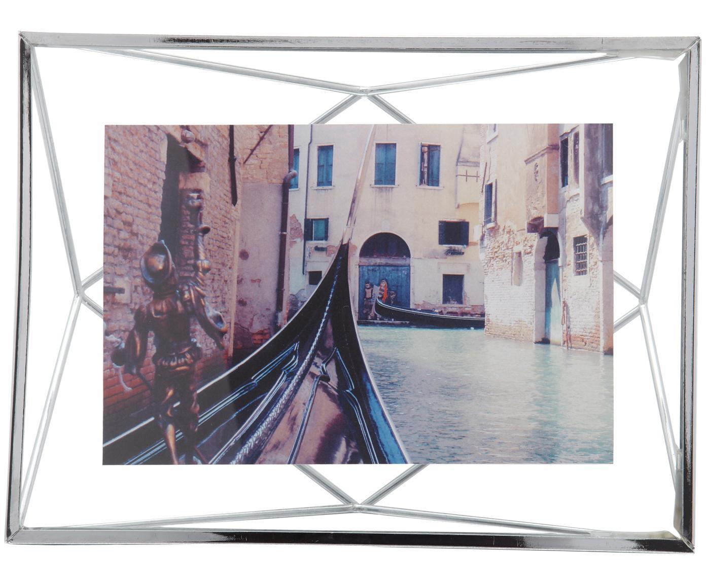 Fotolijstje Prisma, Frame: staal, Chroomkleurig, 10 x 15 cm