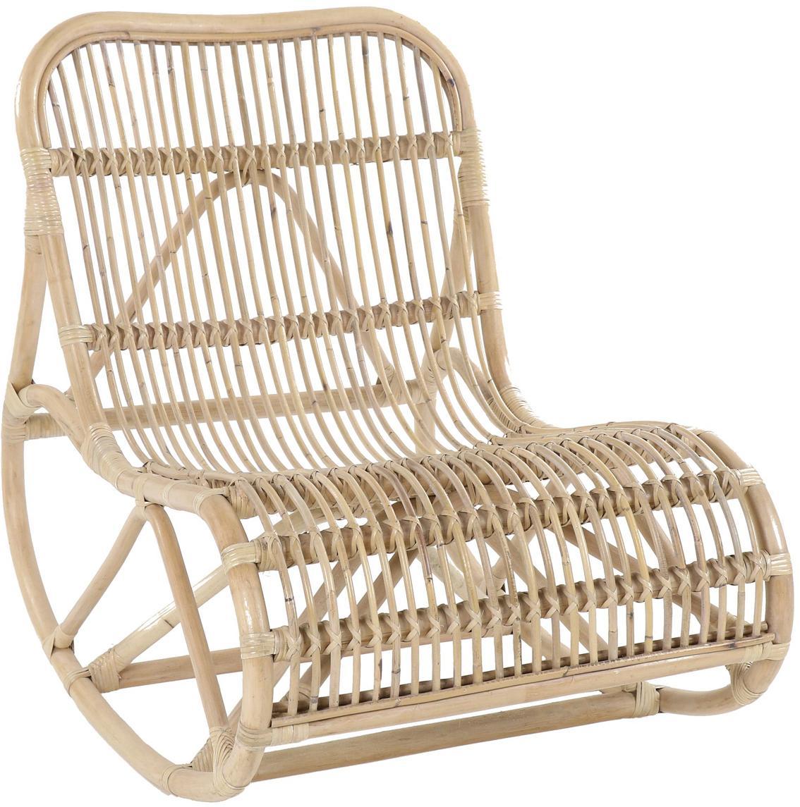 Fotel bujany  z rattanu Kim, Rattan naturalny, Rattan, S 62 x G 90 cm