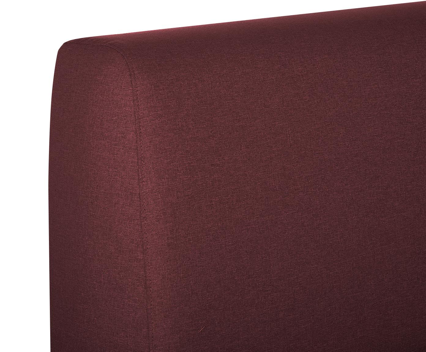 Łóżko tapicerowane Cloud, Korpus: lite drewno sosnowe, Tapicerka: poliester (materiał tekst, Bordowy, 180 x 200 cm