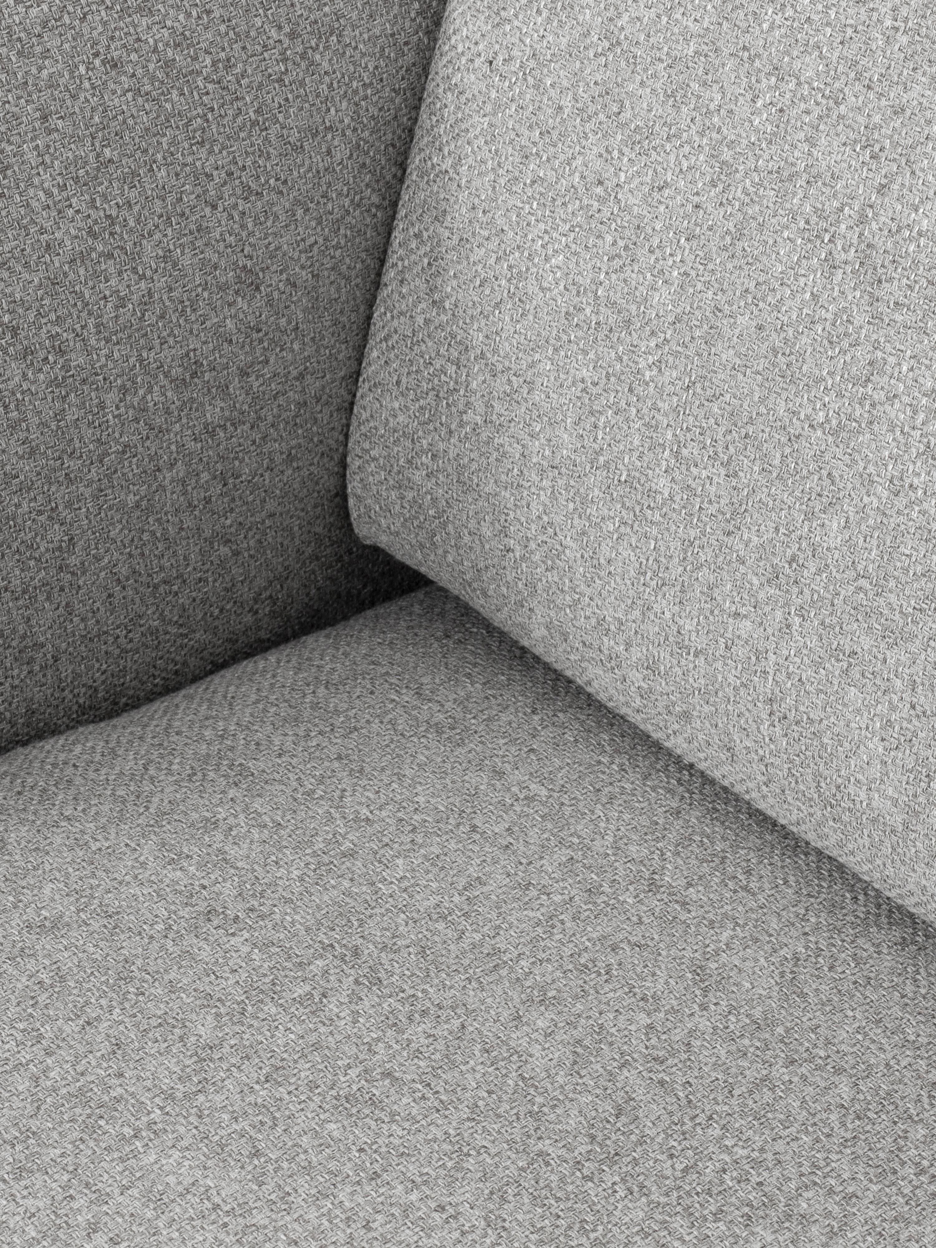 Fauteuil gris clair Fluente, Tissu gris clair