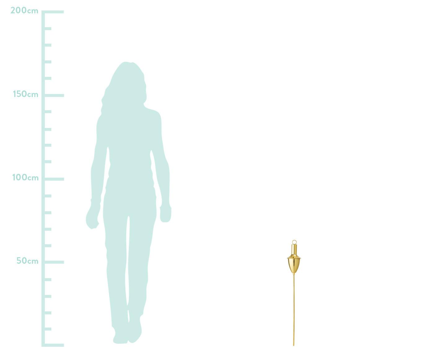 XS-tuinfakkel Shine, Vermessingt edelstaal, Messingkleurig, Ø 7 x H 63 cm