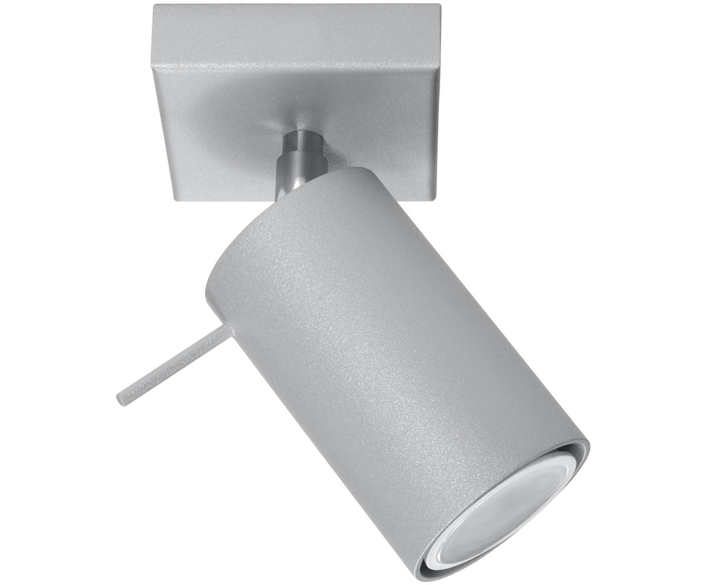 Deckenstrahler Etna in Grau, Stahl, lackiert, Grau, 10 x 15 cm