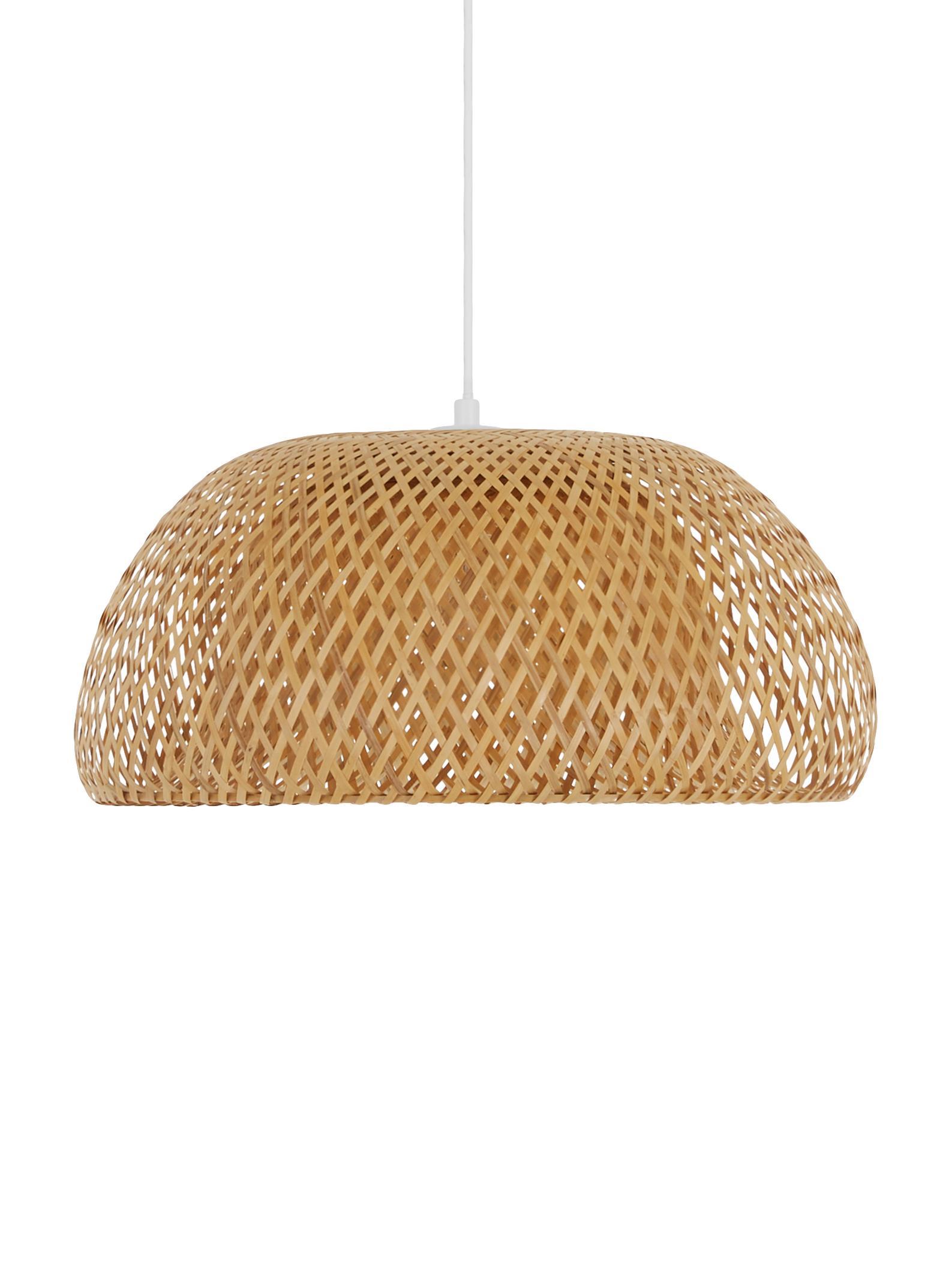 Lampada a sospensione in bambù Eden, Paralume: bambù, Bambù, Ø 45 x Alt. 21 cm