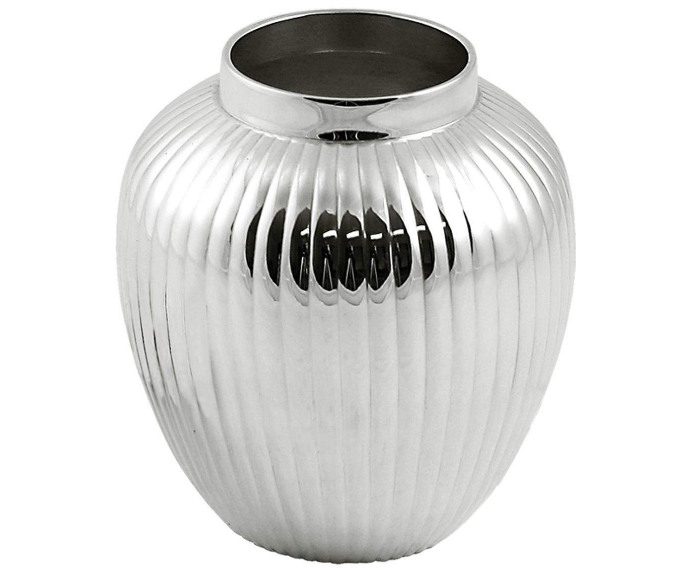 Vase Centra, Messing, versilbert, Silber, H 10 cm
