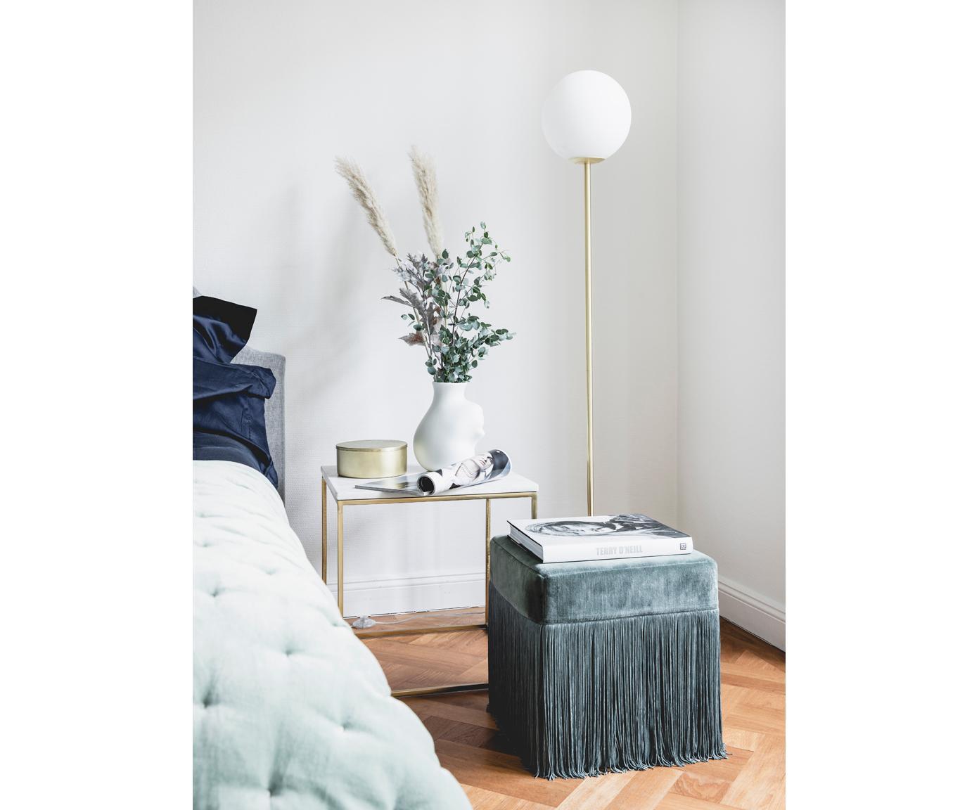 Lampa podłogowa z marmuru Cory, Biały, mosiądz, Ø 25 x W 160 cm