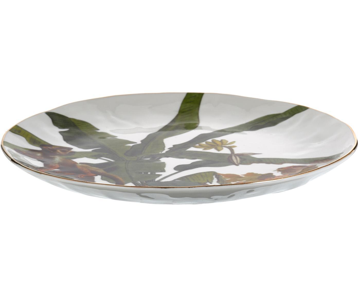 Ontbijtbordenset Animaux, 4-delig, Porselein, Multicolour, Ø 20 cm