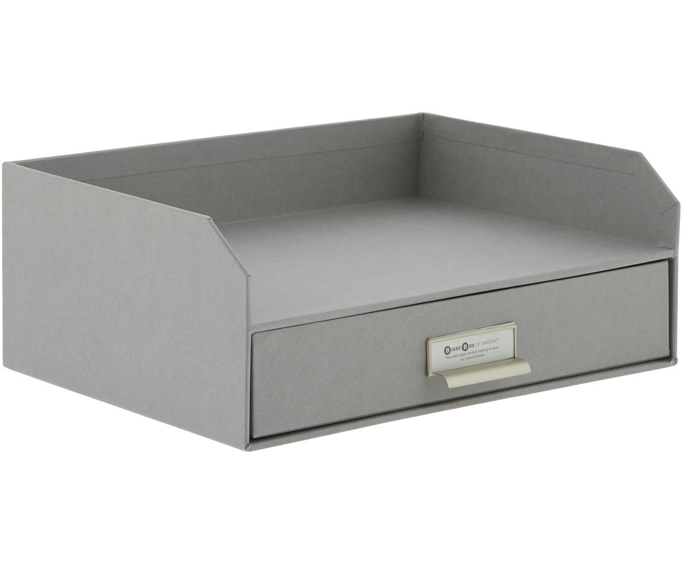 Organizador de escritorioWalter, Organizador: cartón laminado, Gris, An 33 x Al 13 cm