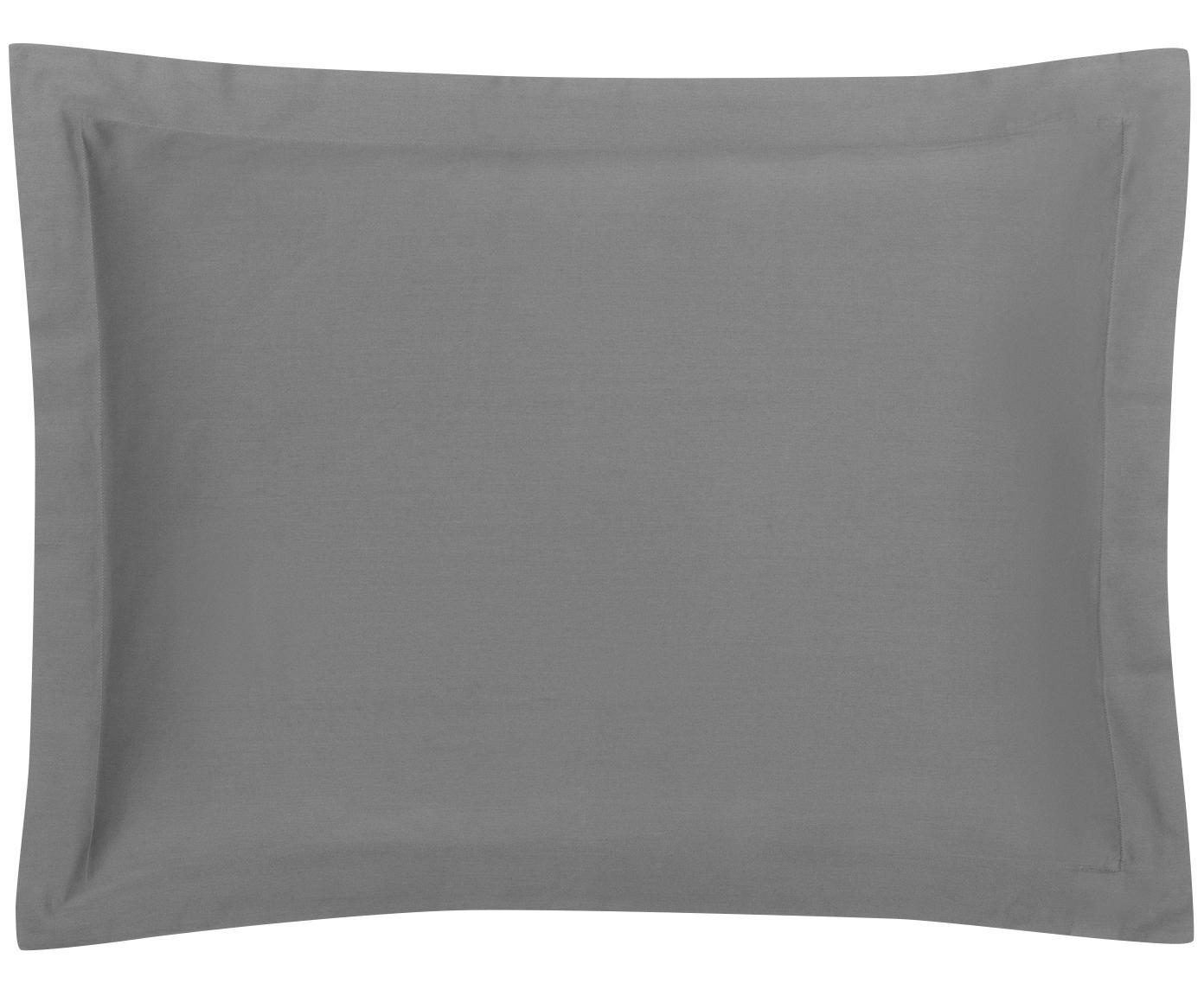 Funda de almohada de satén Premium, Gris oscuro, An 50 x L 70 cm