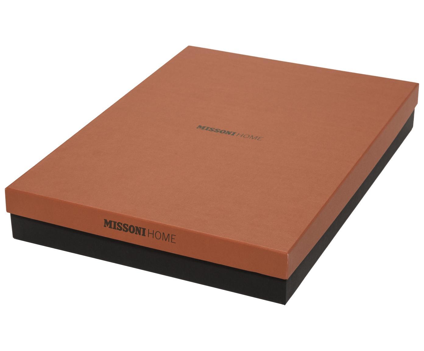 Pled z wełny Perseo, 90% wełna, 10% kaszmir, Pomarańczowy, wielobarwny, S 130 x D 190 cm