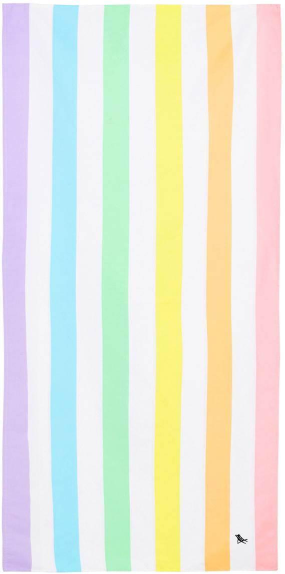 Toalla de playa de microfibras Summer, Microfibra (80%poliéster, 20%poliamida), Multicolor, blanco, An 90 x L 200 cm