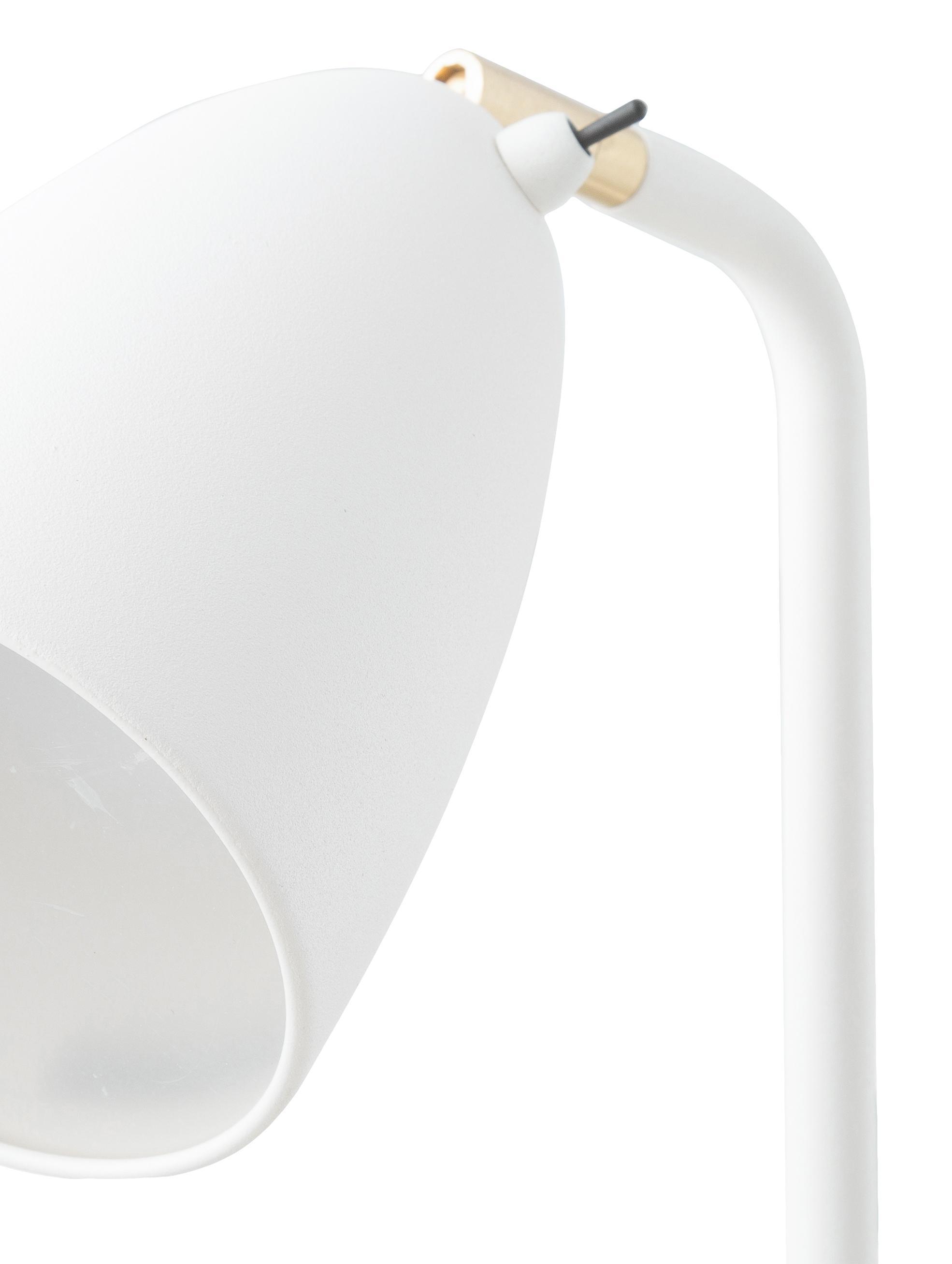 Lampada da terra a LED Nexus 10, Giunto: metallo ottonato, Crema, Ø 26 x Alt. 142 cm