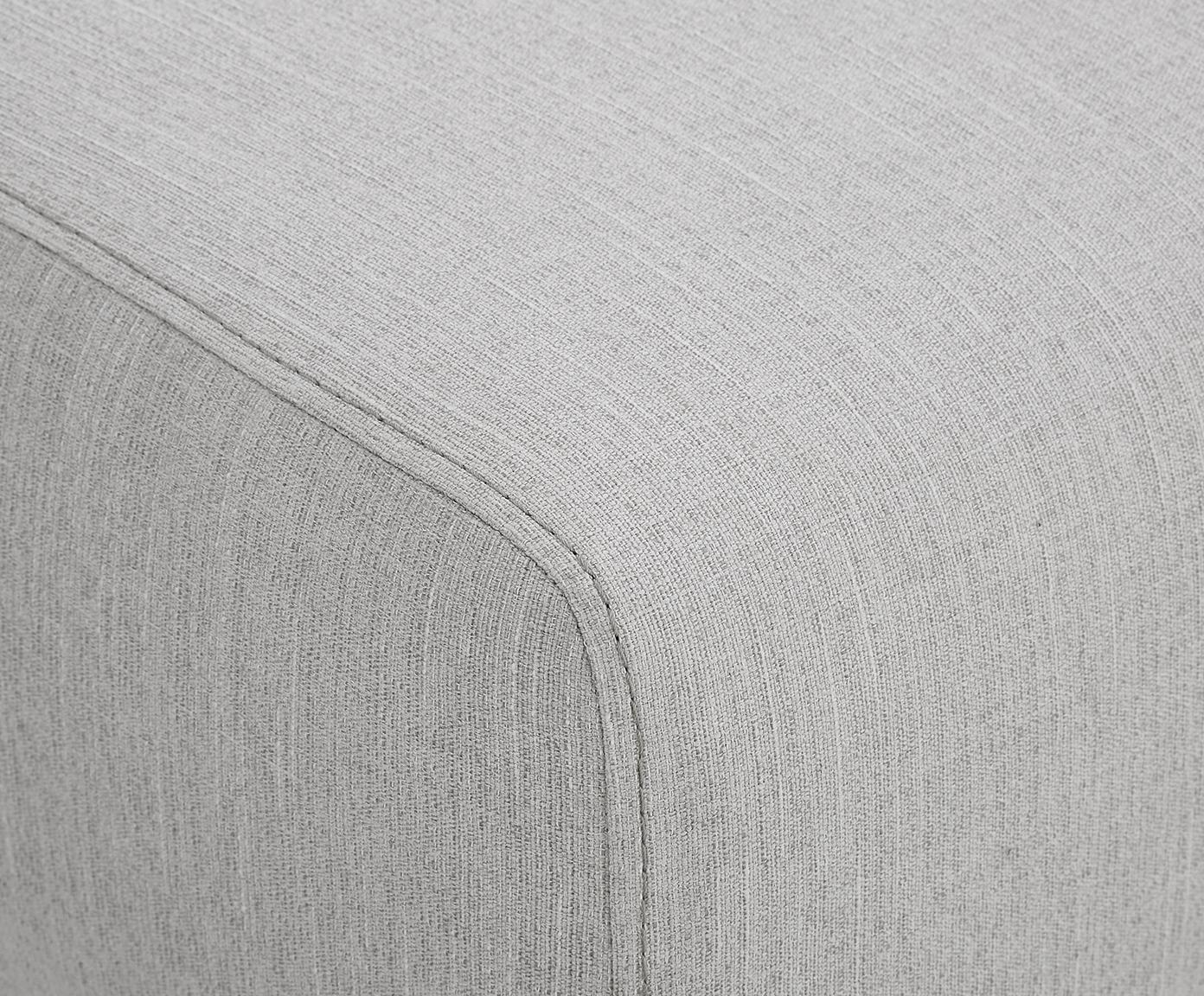 Divano 3 posti in tessuto grigio Carrie, Rivestimento: poliestere 50.000 cicli d, Struttura: truciolato, faesite, comp, Piedini: metallo verniciato, Tessuto grigio, Larg. 202 x Prof. 86 cm