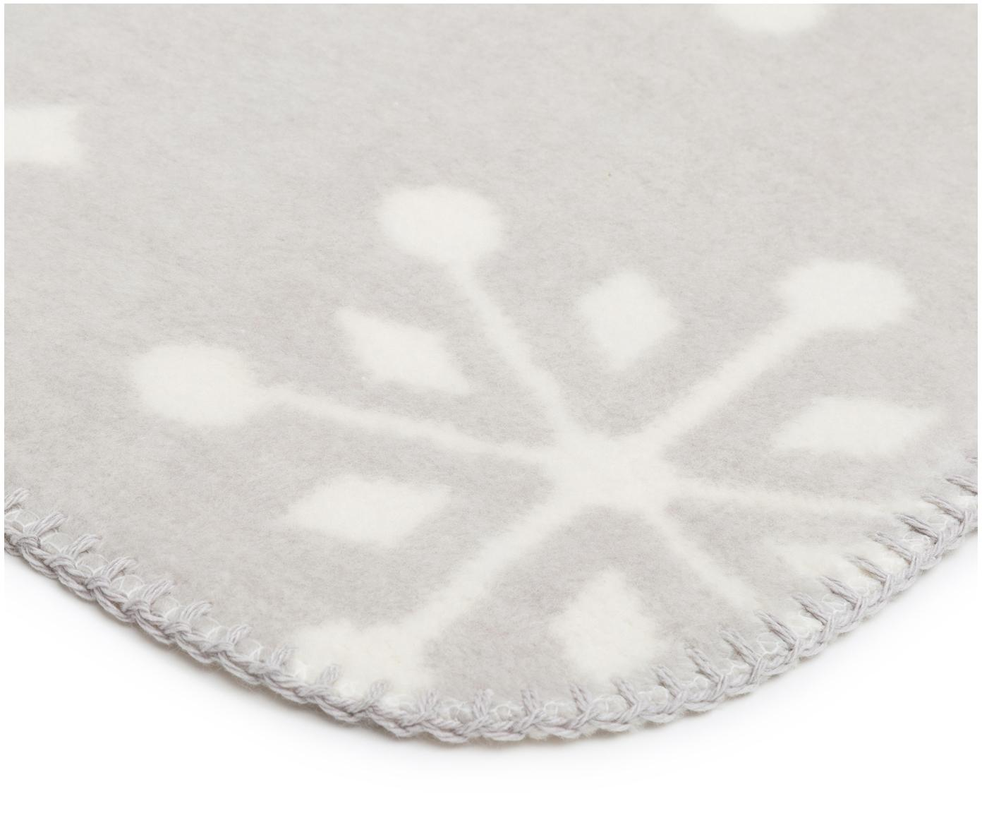 Dwustronny pled  Sense of Snow, 50% bawełna, 43% poliaktylonitryl, 7% poliester, Odcienie szarego, złamana biel, D 200 x S 150 cm