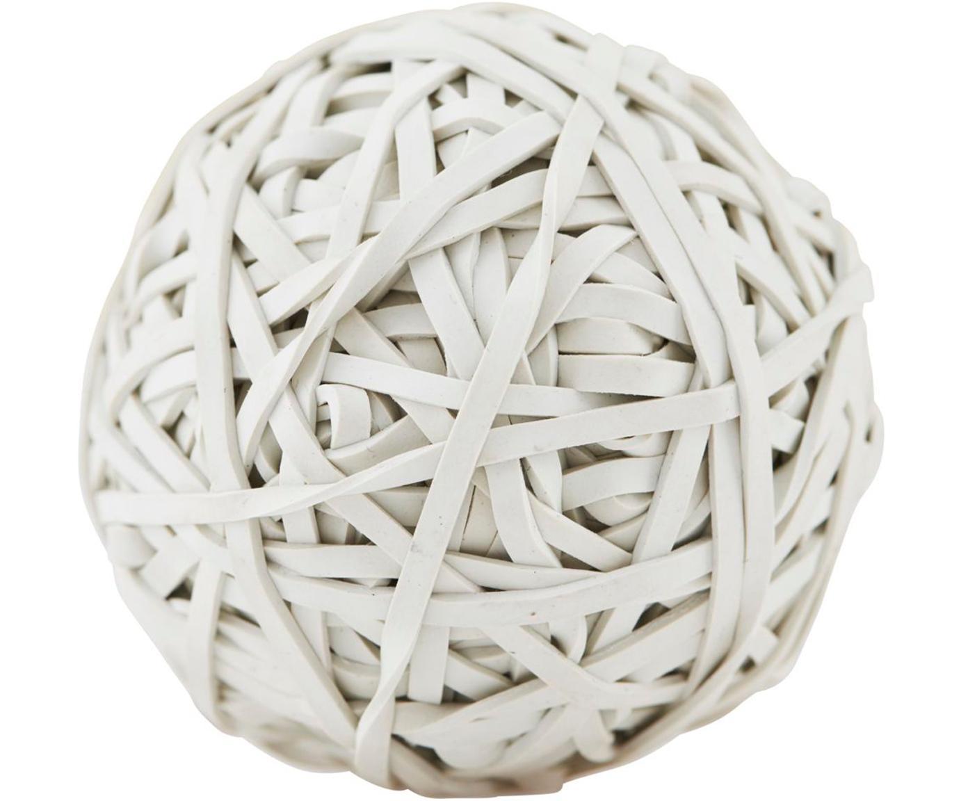 Rubberen bal Rubba, Rubber, Wit, Ø 10 x H 10 cm