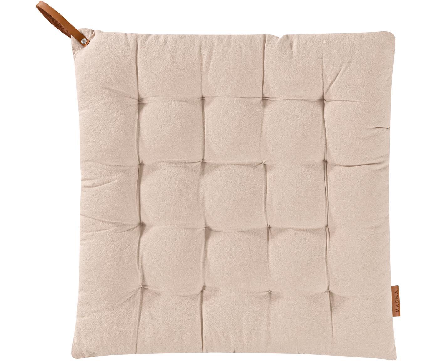 Poduszka na siedzisko Billie, Bawełna, Beżowy, S 40 x D 40 cm