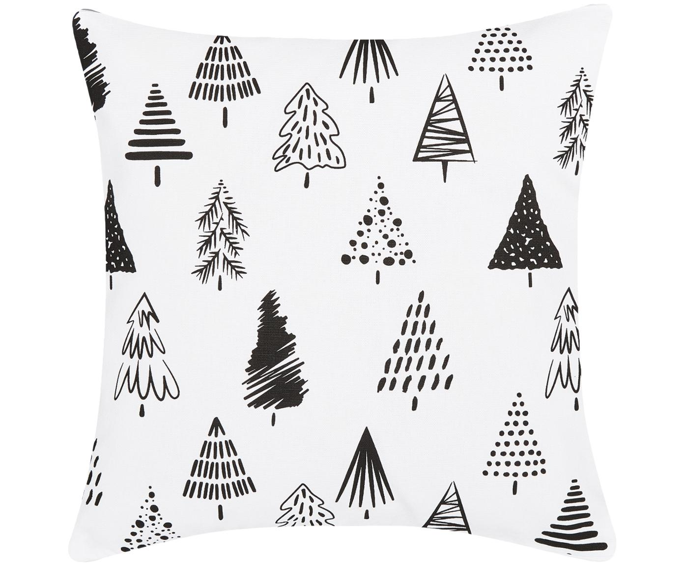 Poszewka na poduszkę Scandi, 100 % bawełna, Biały, czarny, S 40 x D 40 cm