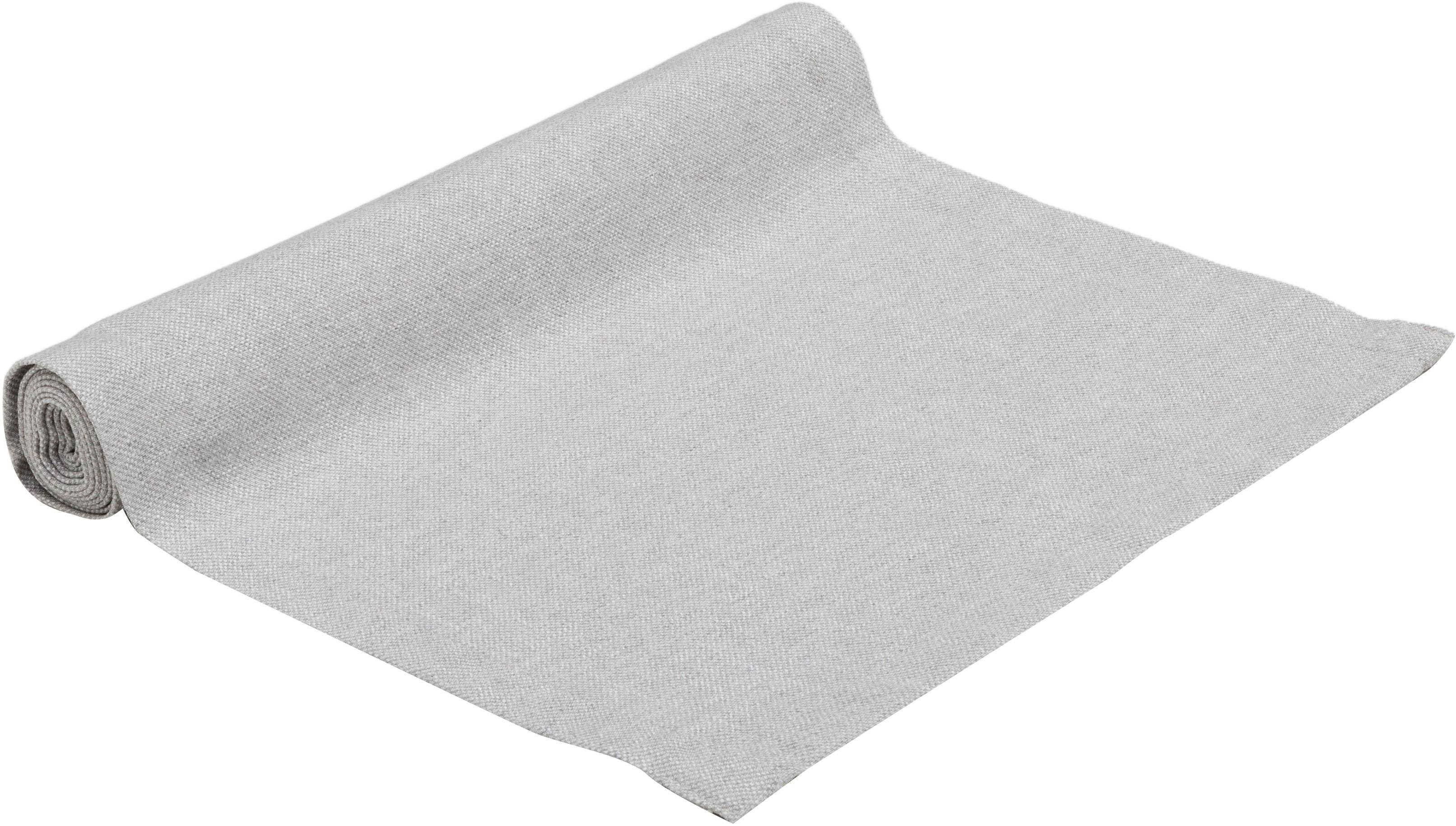 Tischläufer Riva, 55%Baumwolle, 45%Polyester, Grau, 40 x 150 cm