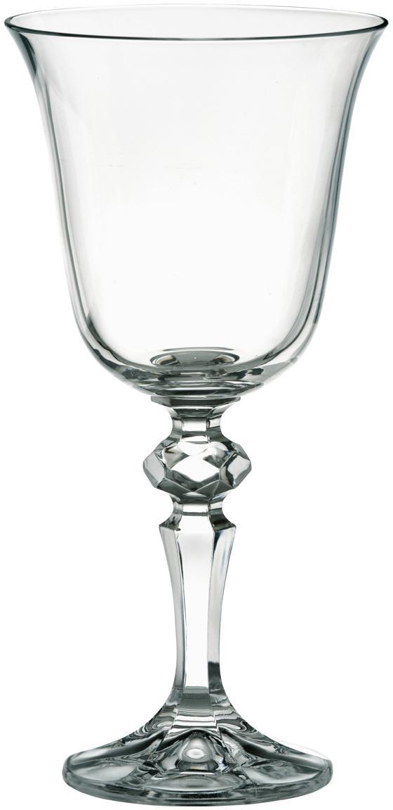 Weingläser Laura im Landhausstil, 6er-Set, Glas, Transparent, 220 ml